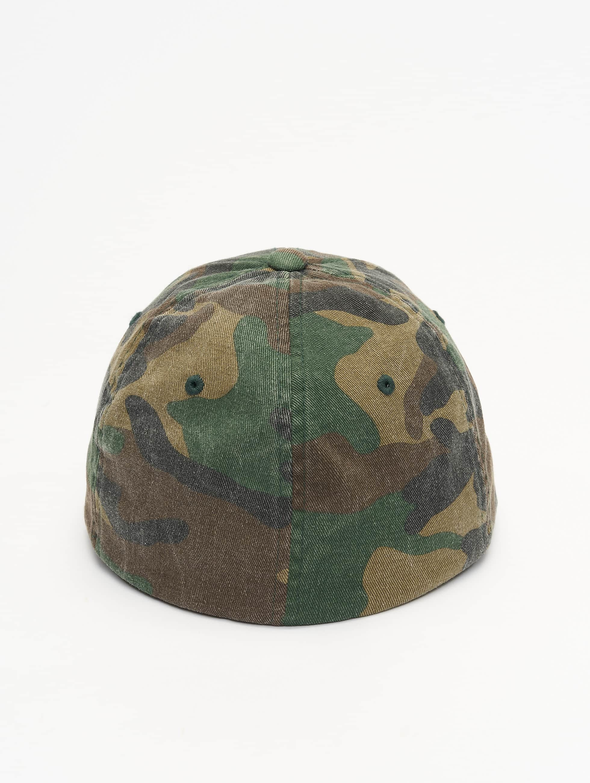 Flexfit Lastebilsjåfør- / flexfitted caps Garment Washed Camo grøn