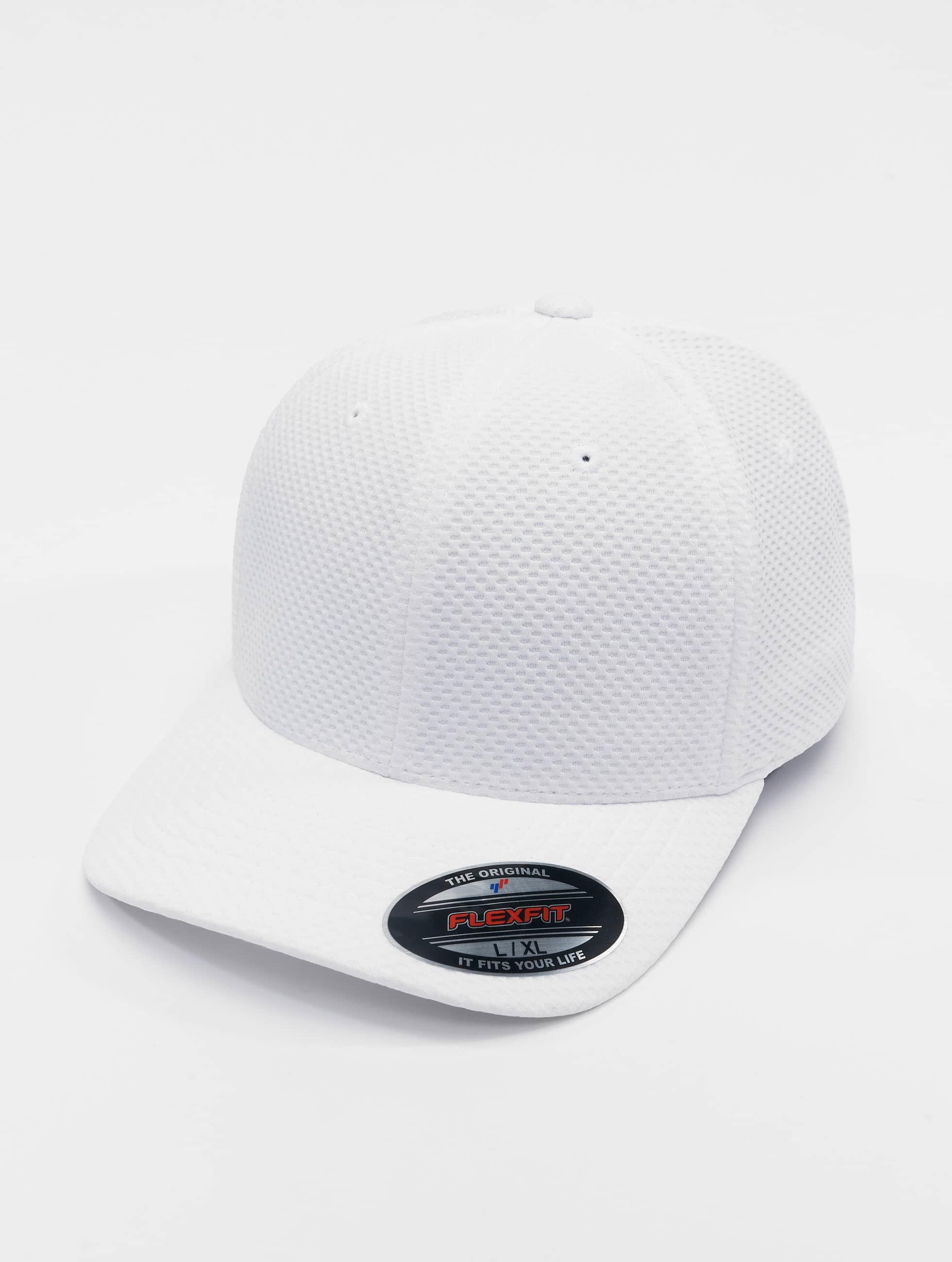 Flexfit Lastebilsjåfør- / flexfitted caps 3D Hexagon hvit