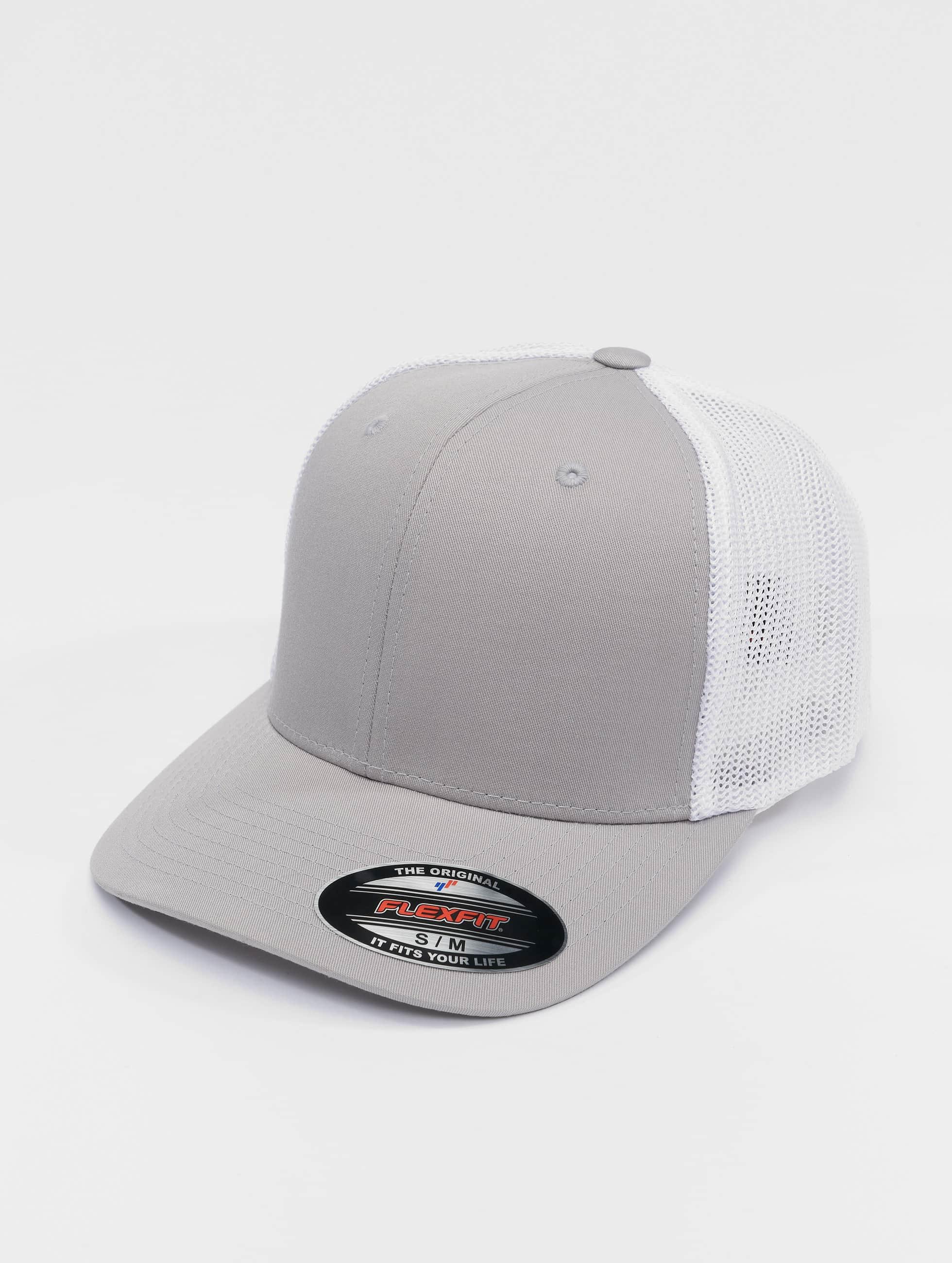 Flexfit Lastebilsjåfør- / flexfitted caps Mesh Cotton Twill sølv