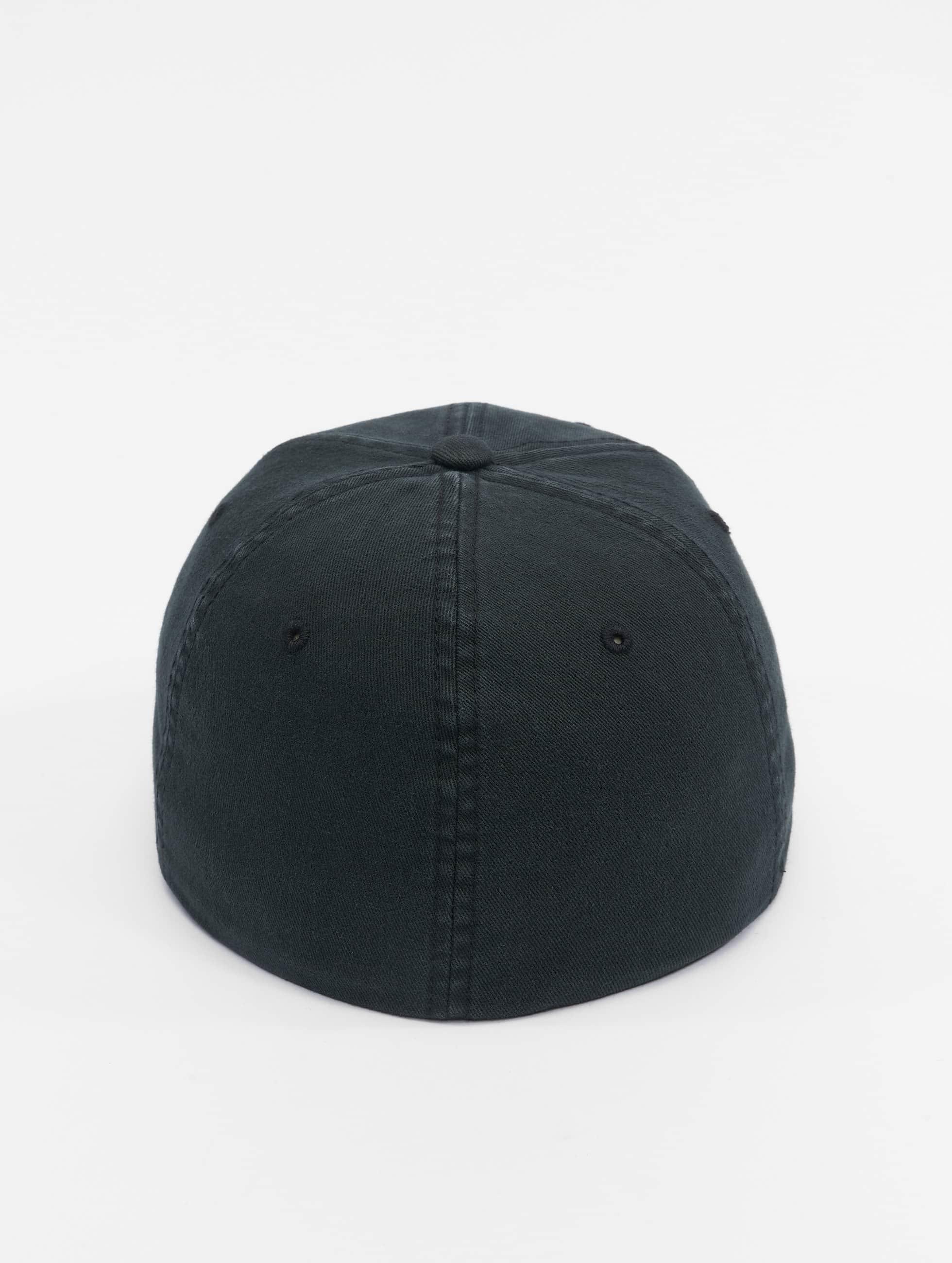Flexfit Lastebilsjåfør- / flexfitted caps Garment Washed Cotton Dat svart