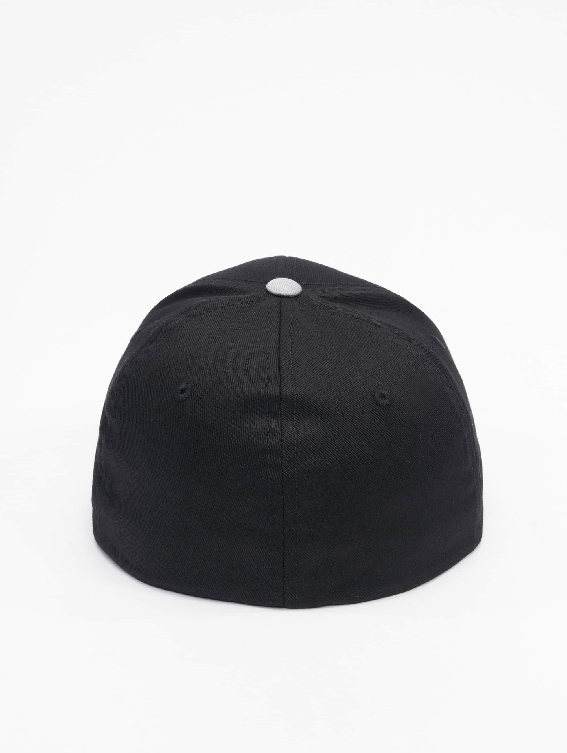 Flexfit Lastebilsjåfør- / flexfitted caps 2-Tone Wooly Combed svart
