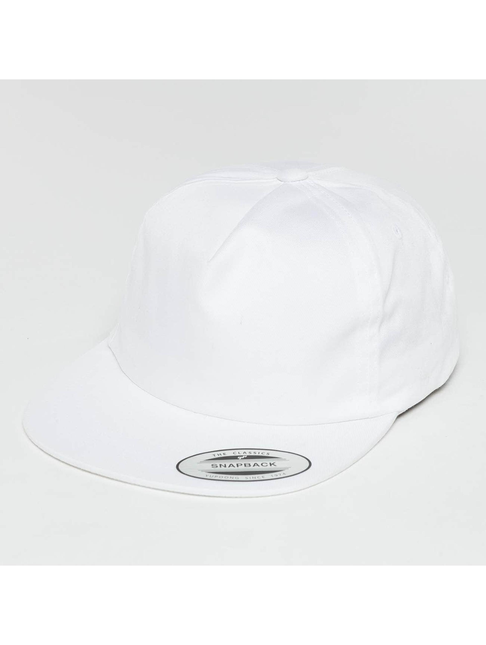 Flexfit Snapback Cap Unstructured bianco