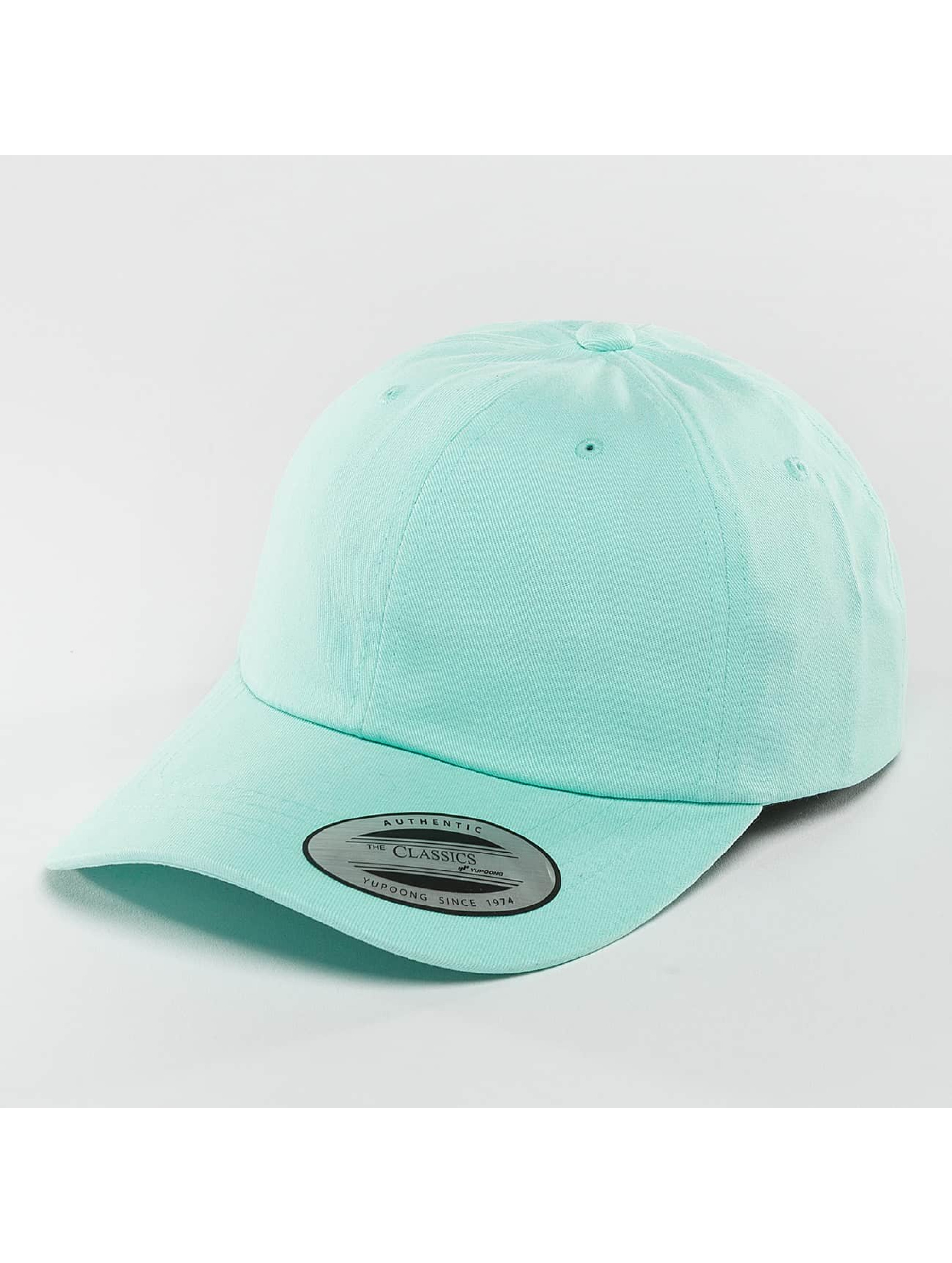 Flexfit snapback cap Peached Cotton Twill Dad blauw