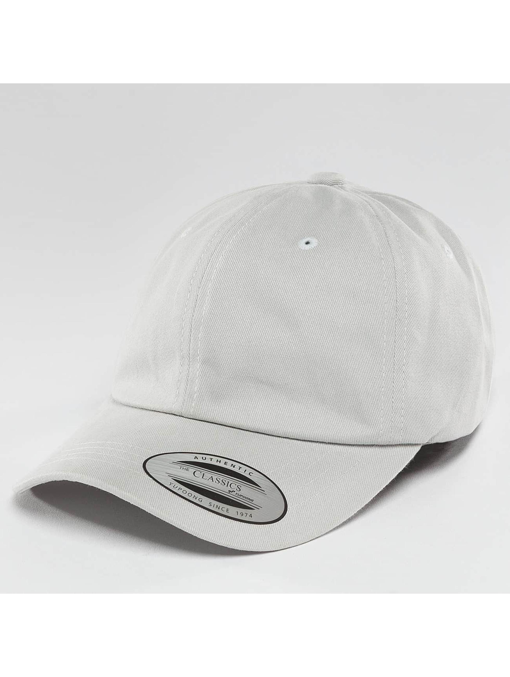 Flexfit Snapback Cap Peached Cotton Twill Dad grau
