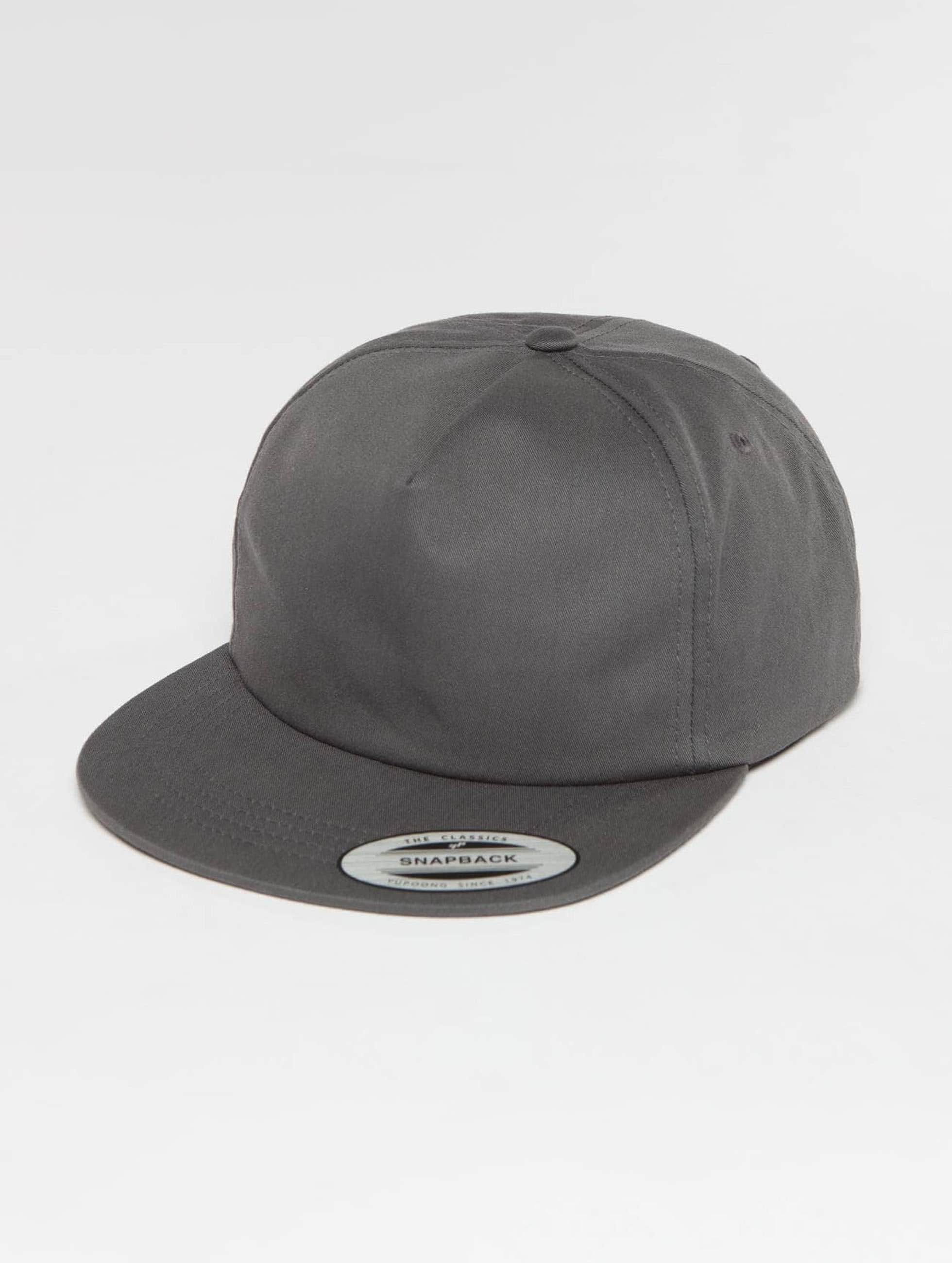 Flexfit Snapback Cap Unstructured gray