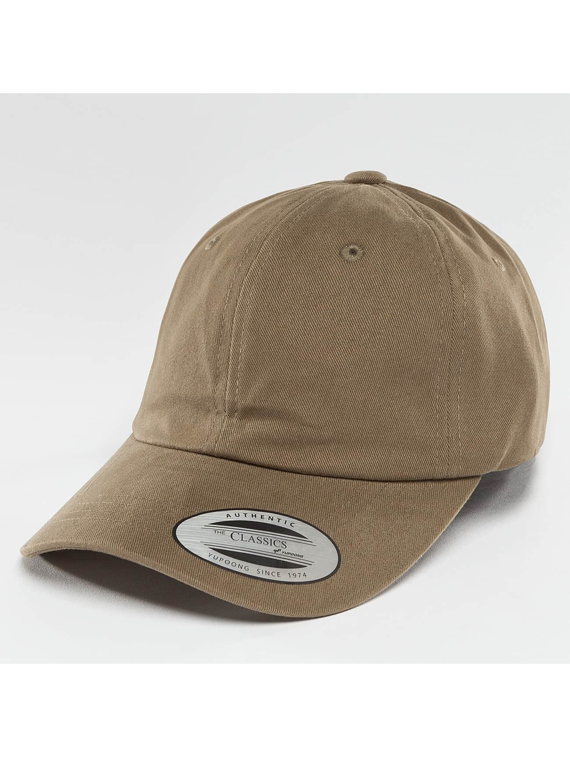 Flexfit Snapback Cap Peached Cotton Twill Dad khaki