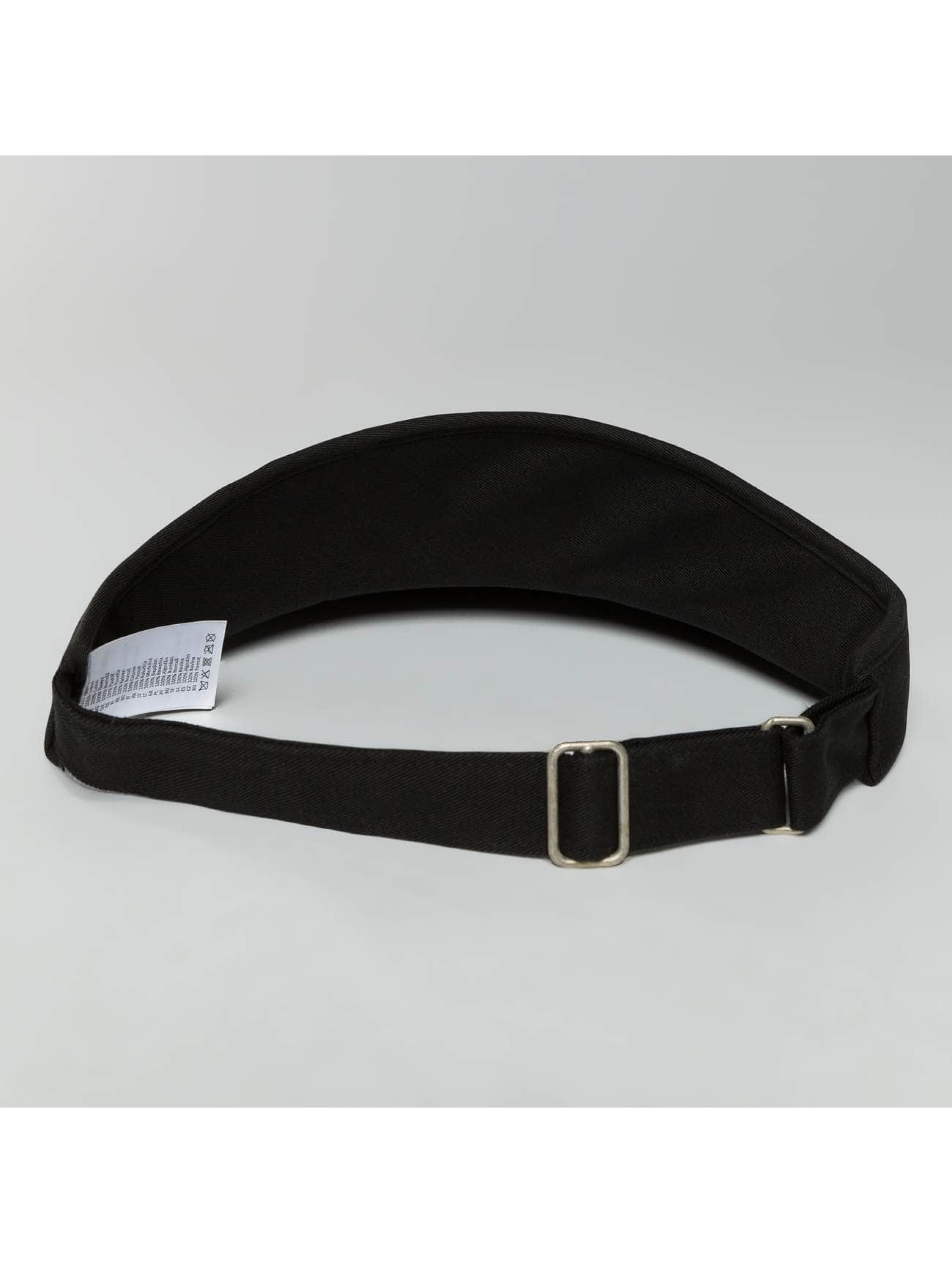 Flexfit Snapback Cap Flat Round Visor nero