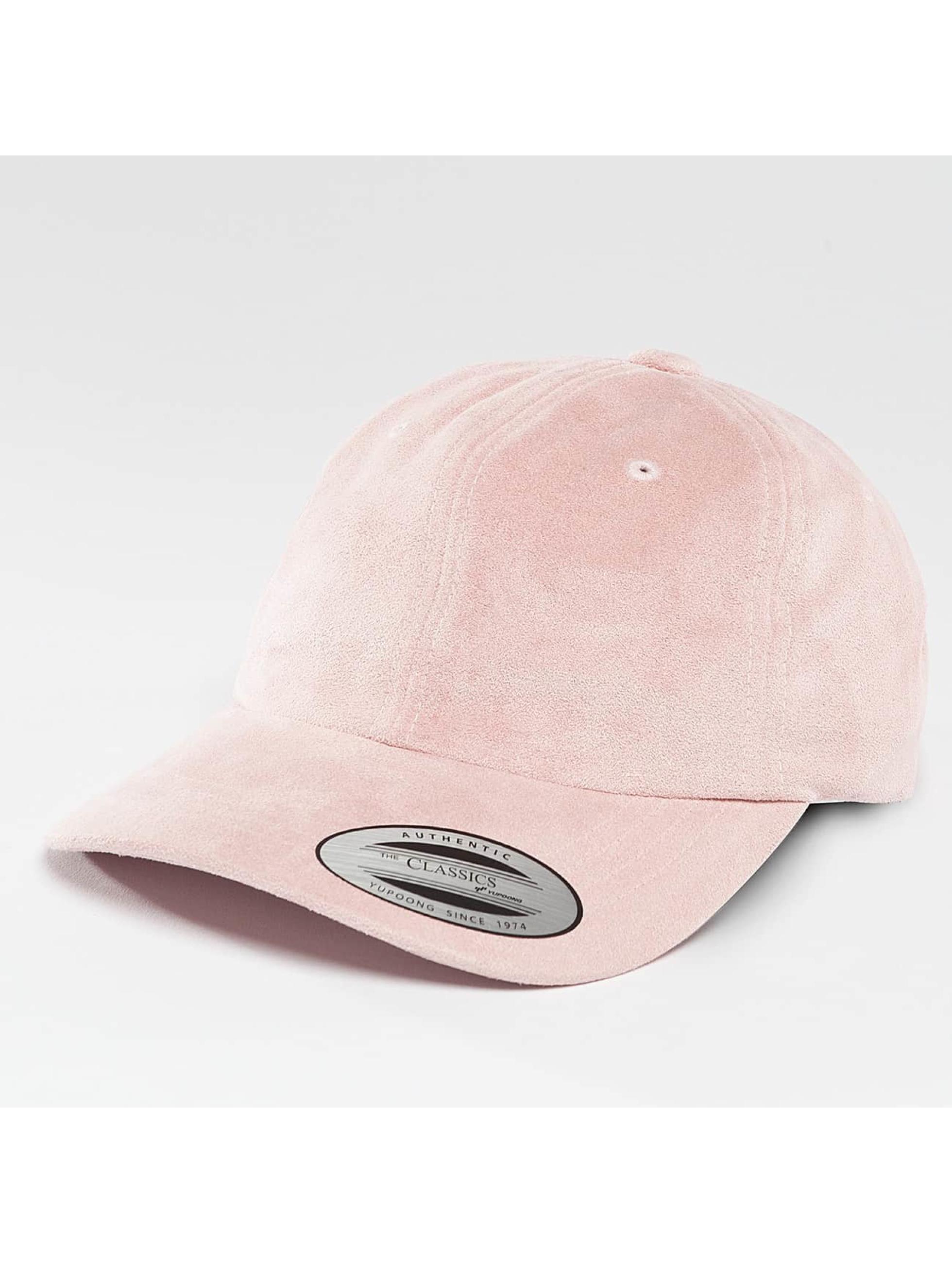 Flexfit Snapback Cap Low Profile Velours rose
