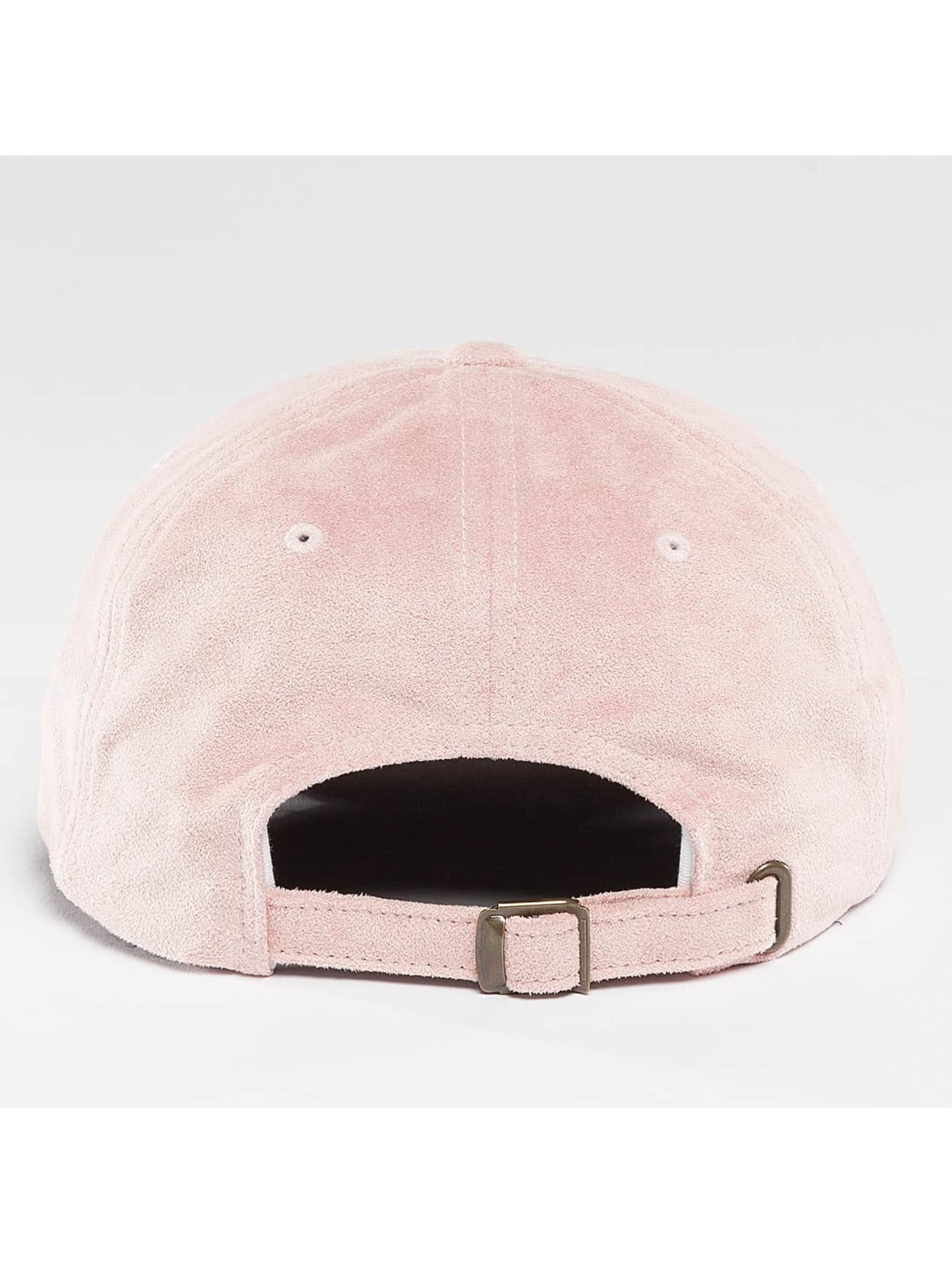 Flexfit Snapback Cap Low Profile Velours rose