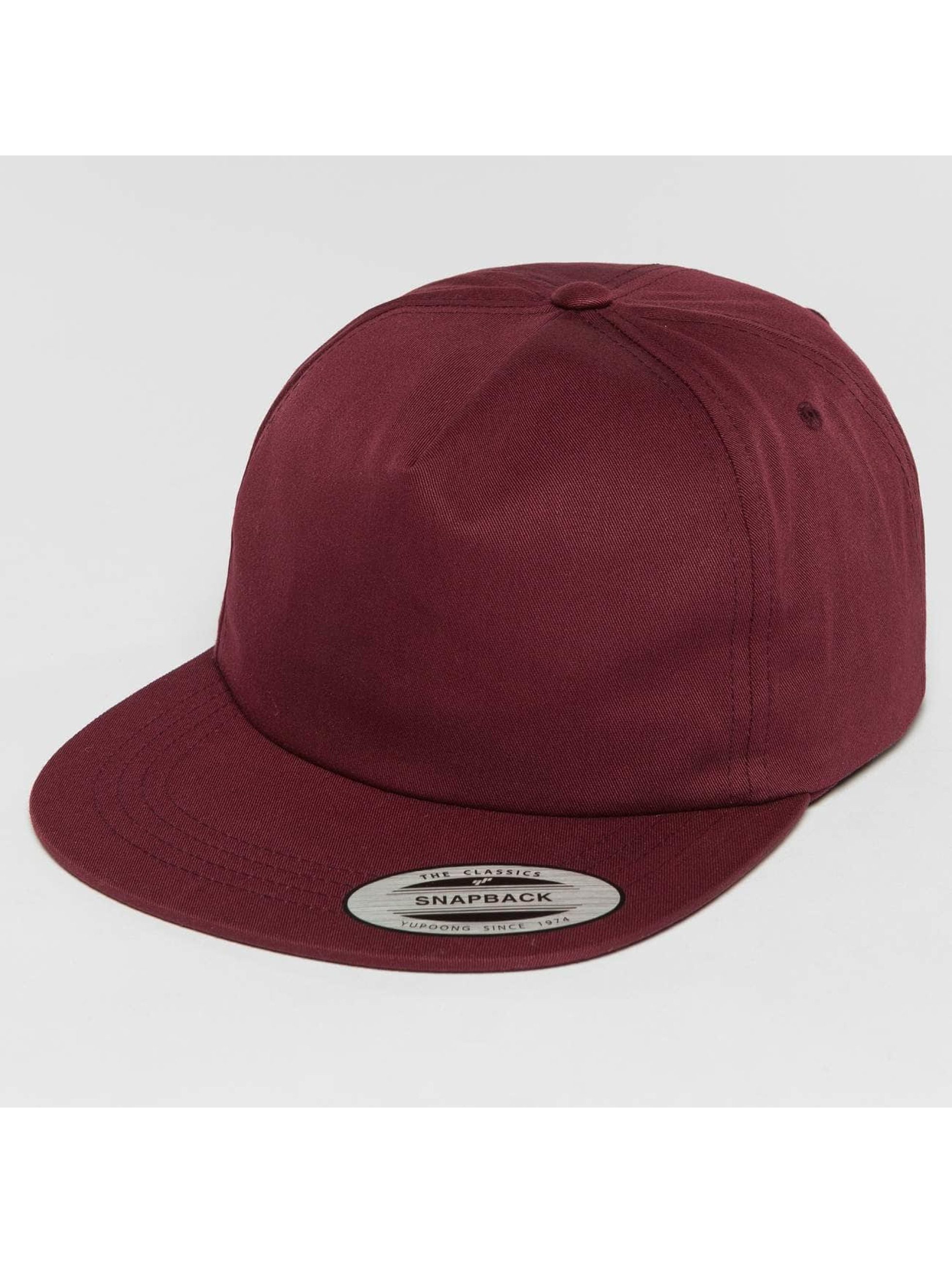 Flexfit Snapback Cap Unstructured rosso