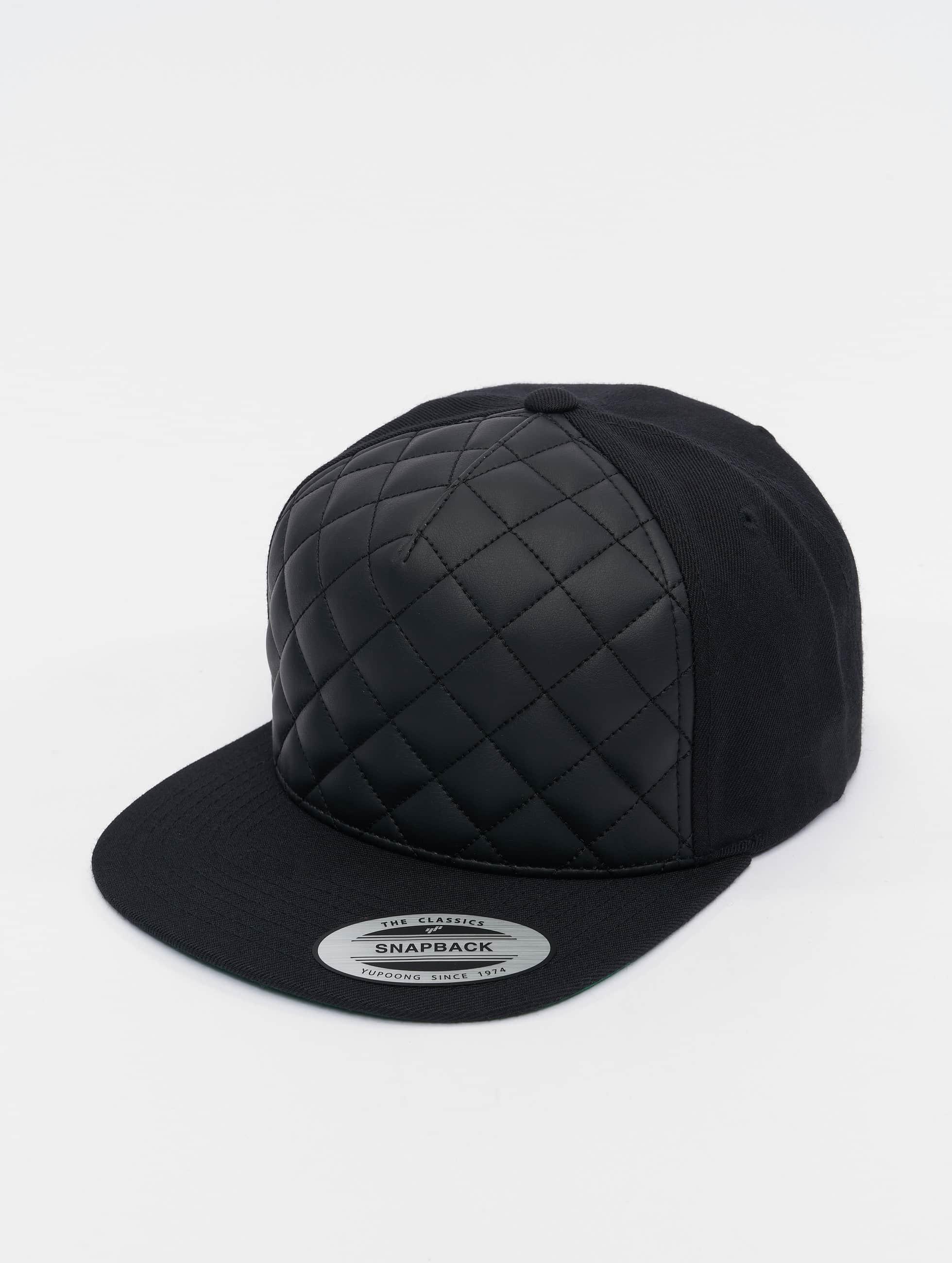 Flexfit Snapback Cap Diamond Quilted schwarz