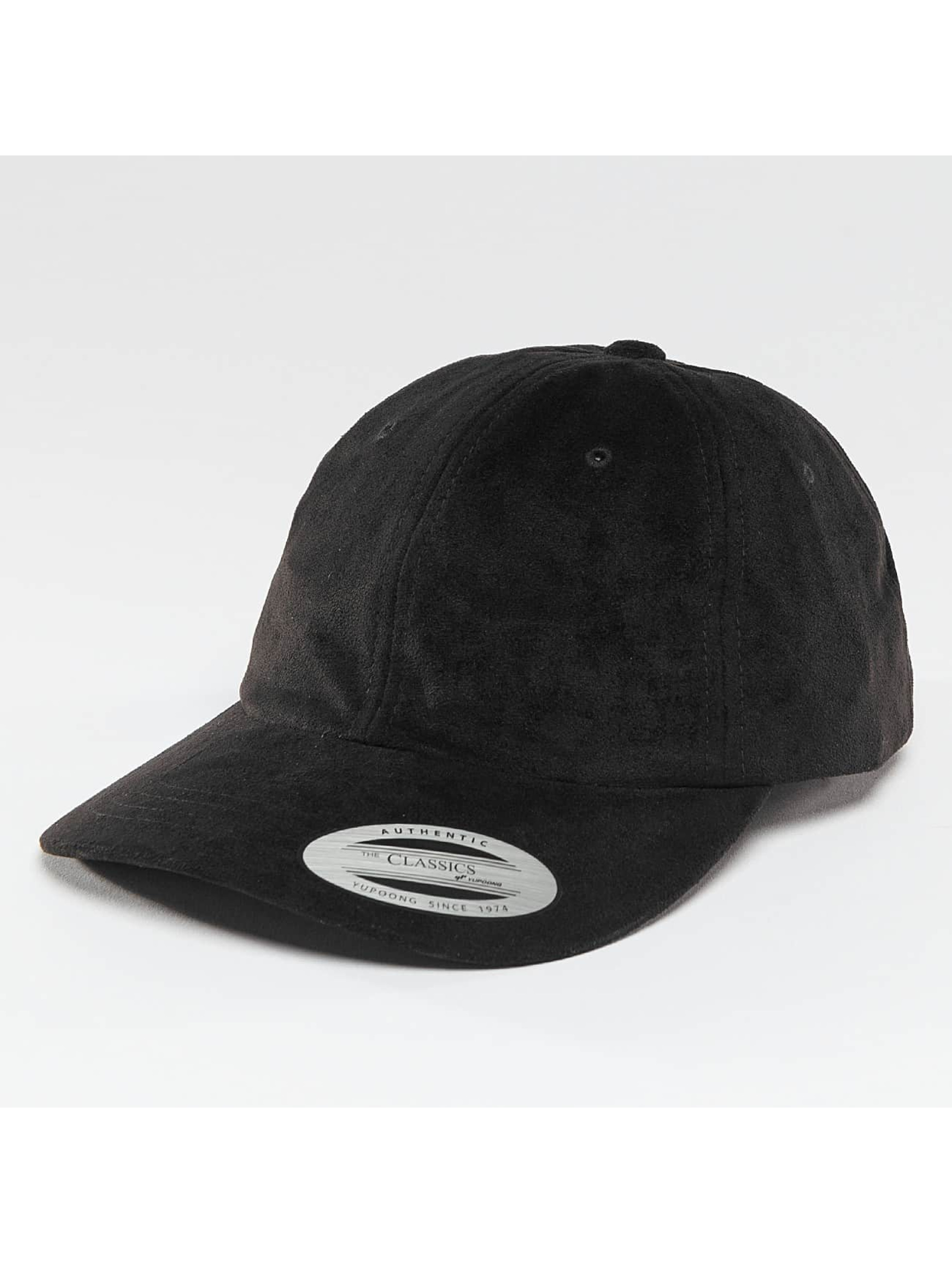 Flexfit Snapback Cap Low Profile Velours schwarz