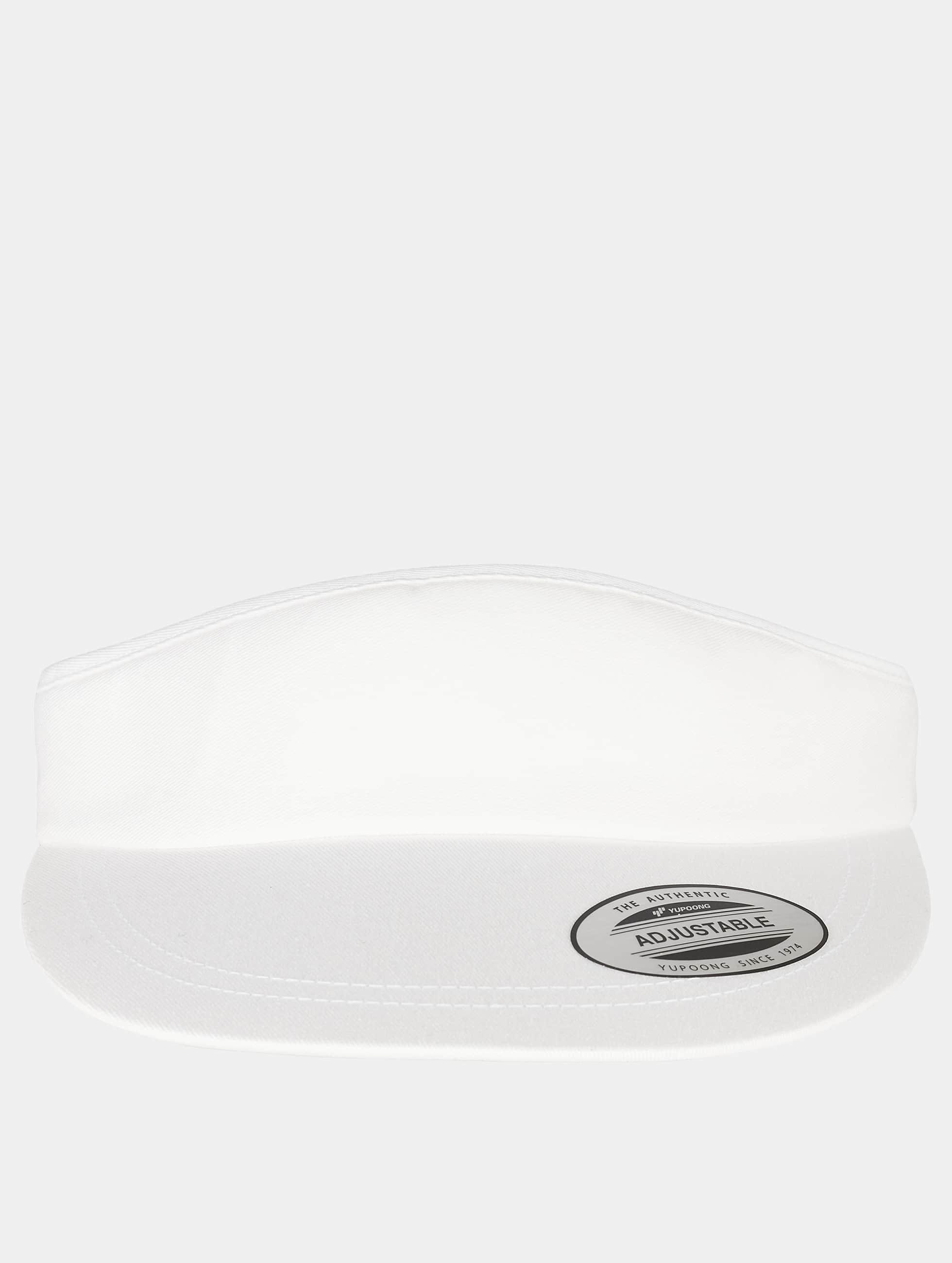 Flexfit Snapback Cap Flat Round Visor weiß
