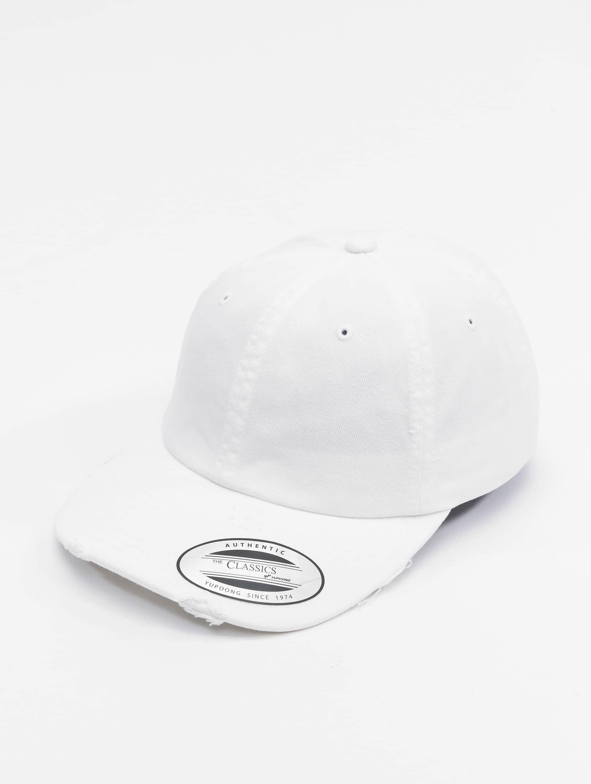 Flexfit Snapback Cap Low Profile Destroyed white