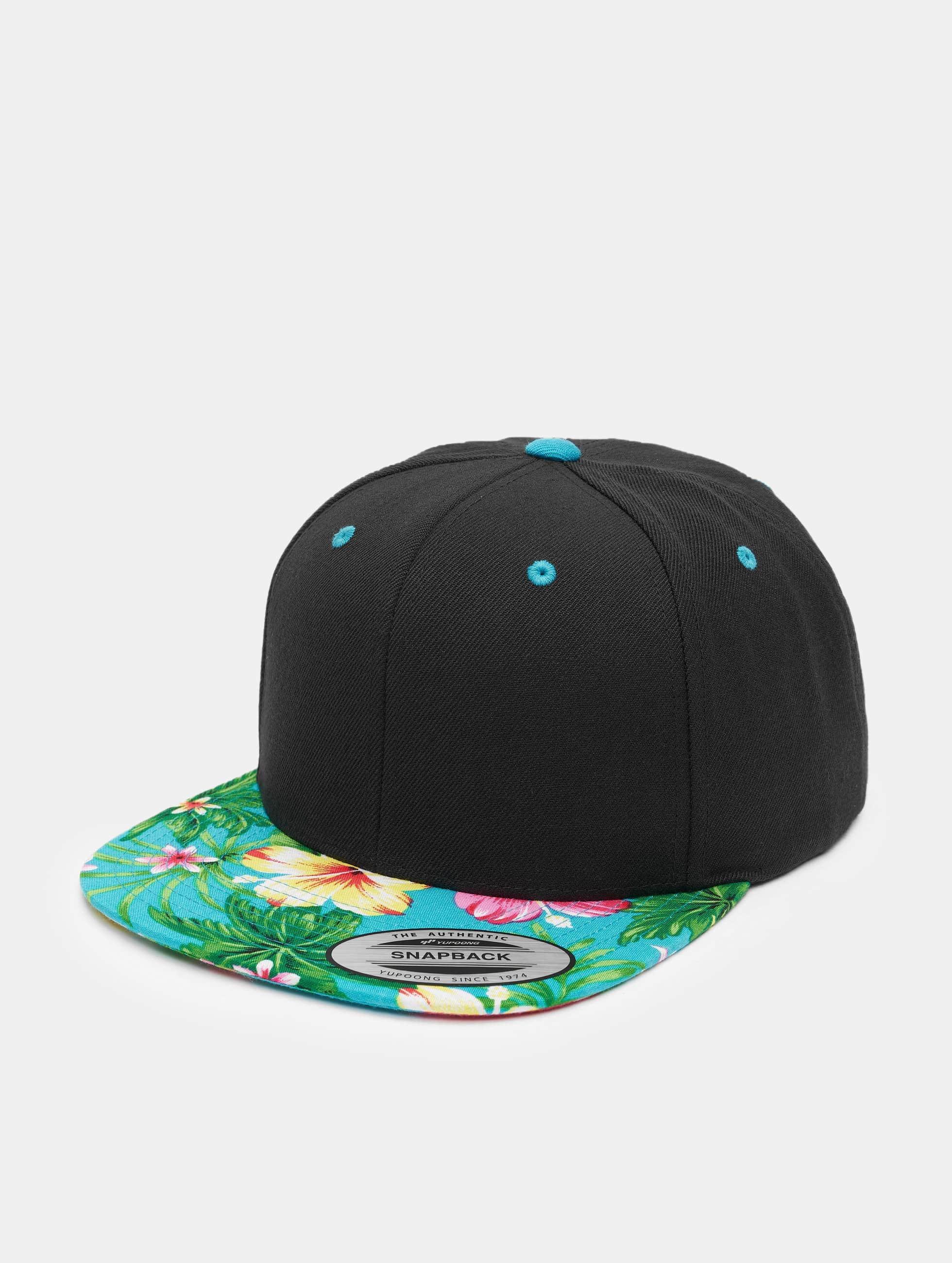 Flexfit snapback cap Hawaiian zwart
