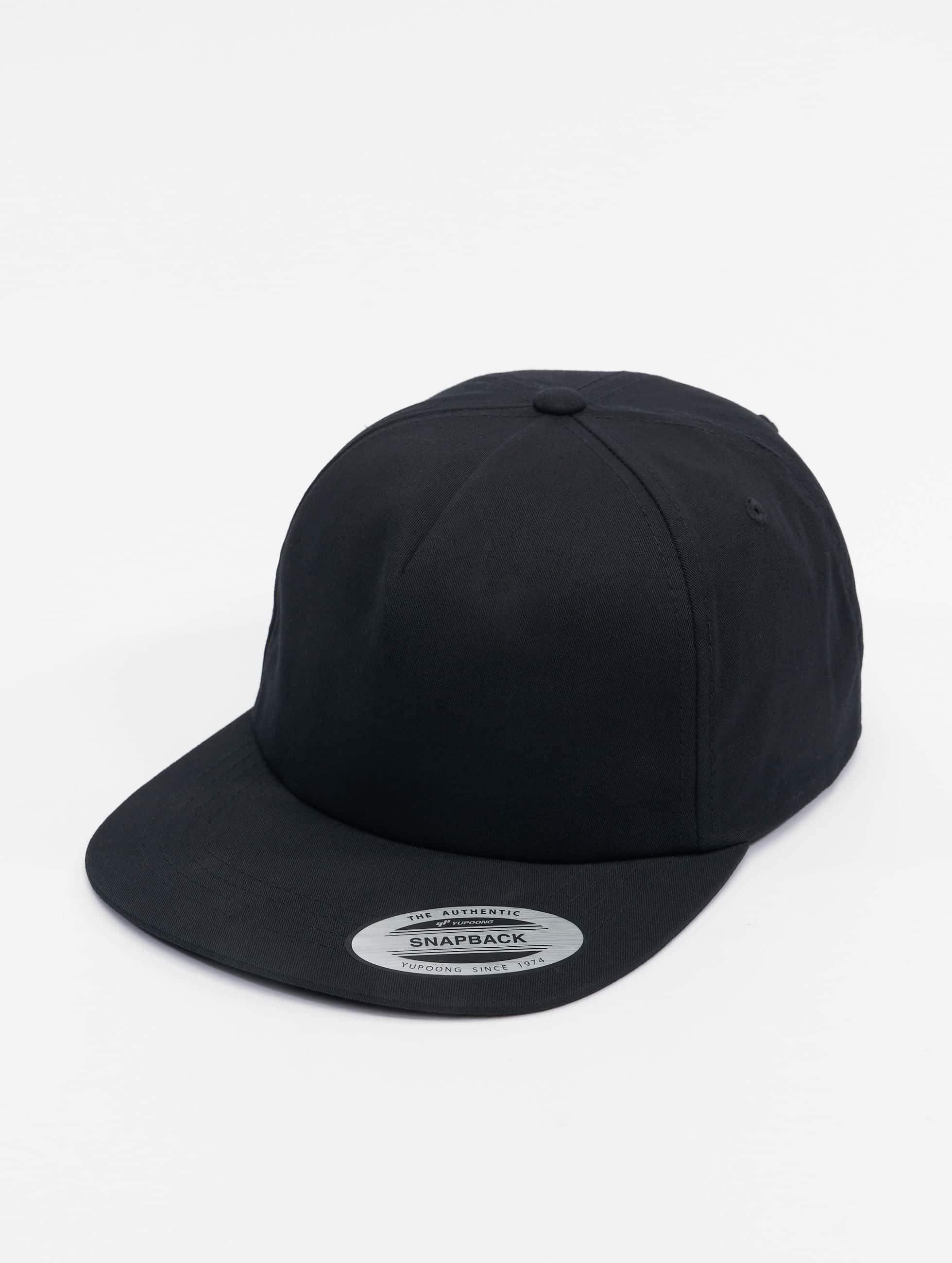 Flexfit snapback cap Unstructured zwart
