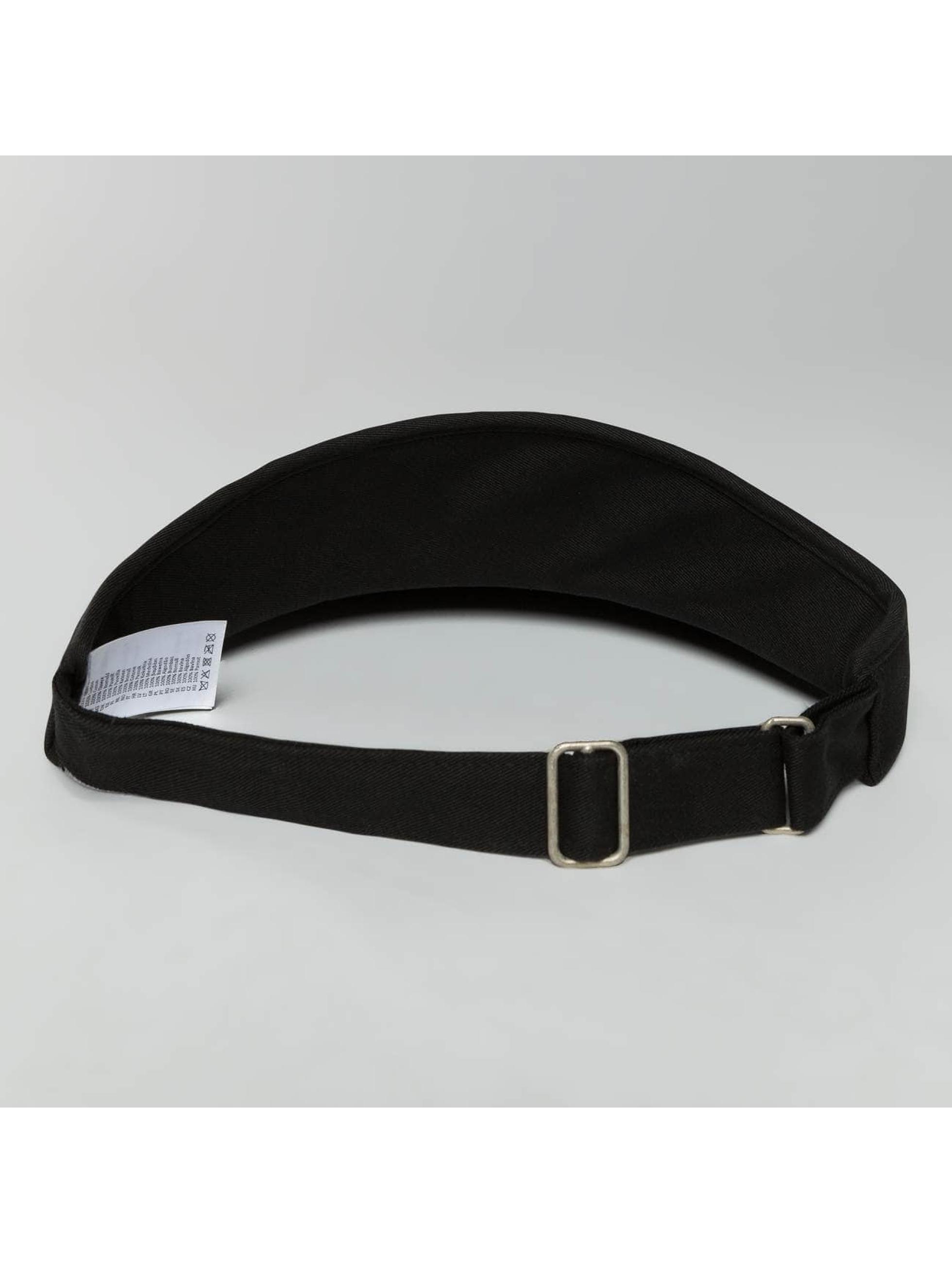 Flexfit snapback cap Flat Round Visor zwart
