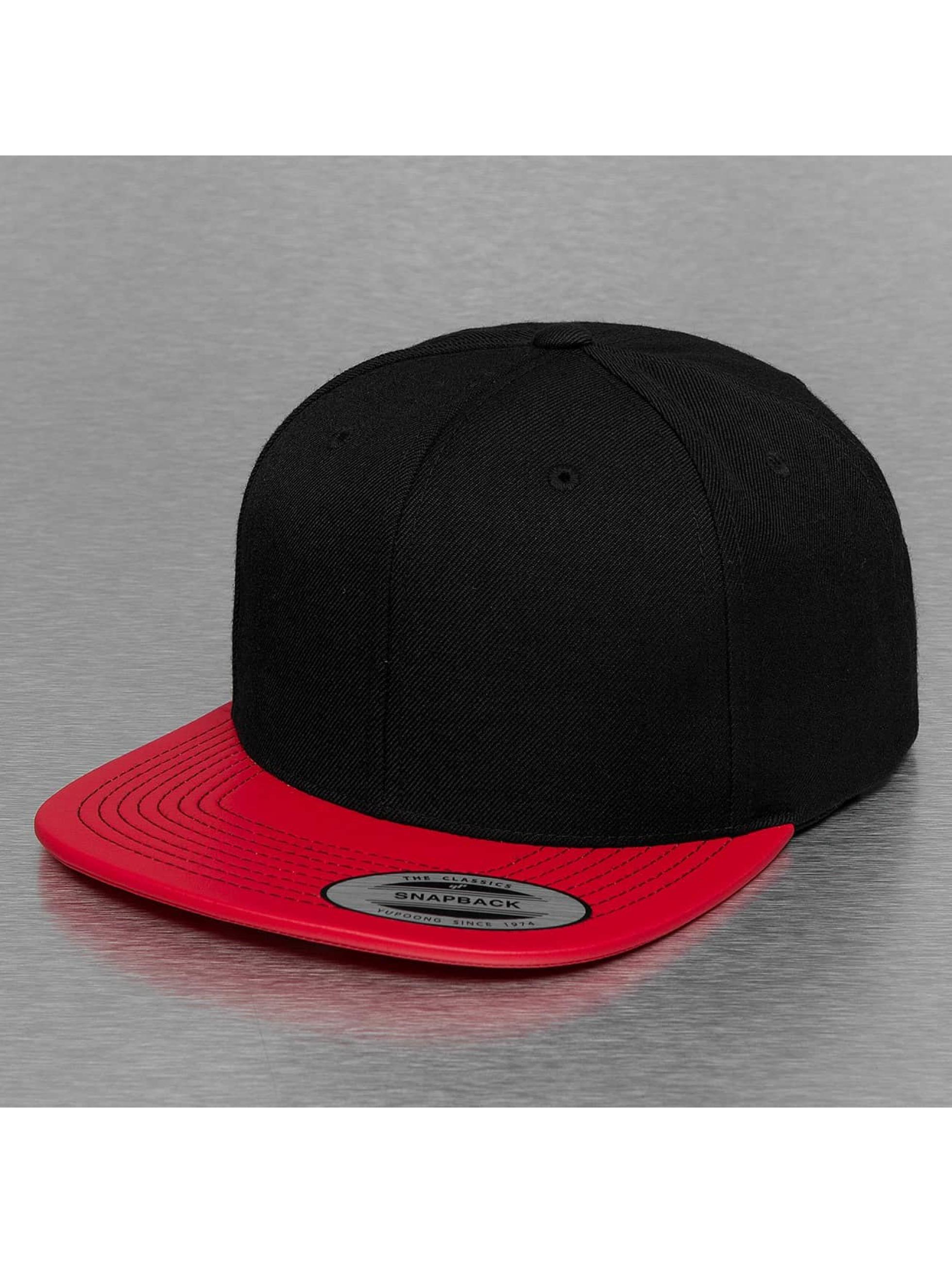 Flexfit Snapback Caps Metallic Visor czerwony