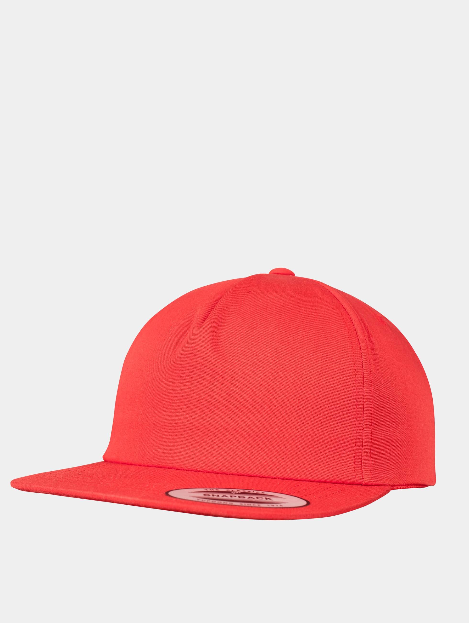 Flexfit Snapback Caps Unstructured czerwony