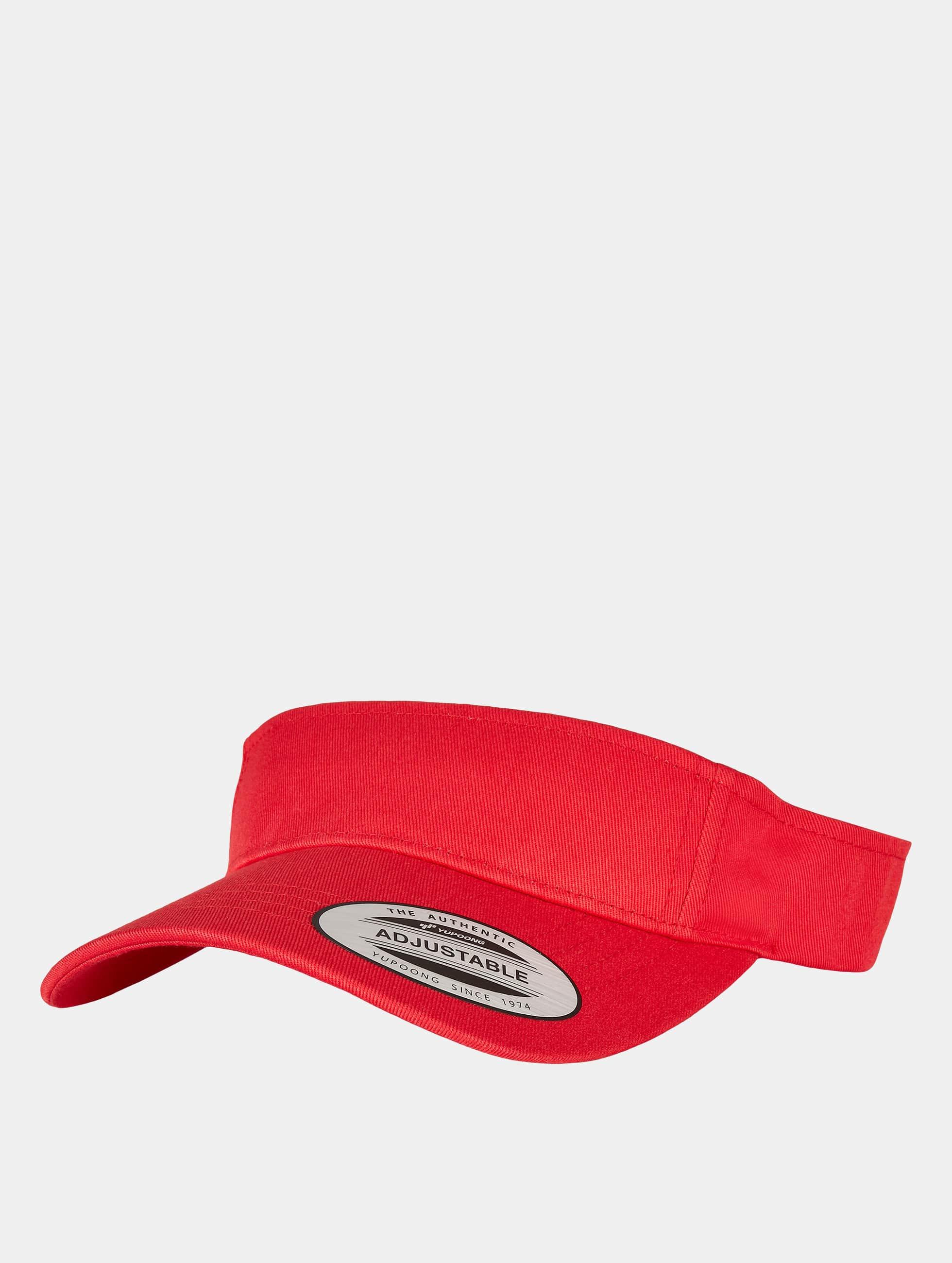 Flexfit Snapback Caps Curved Visor czerwony