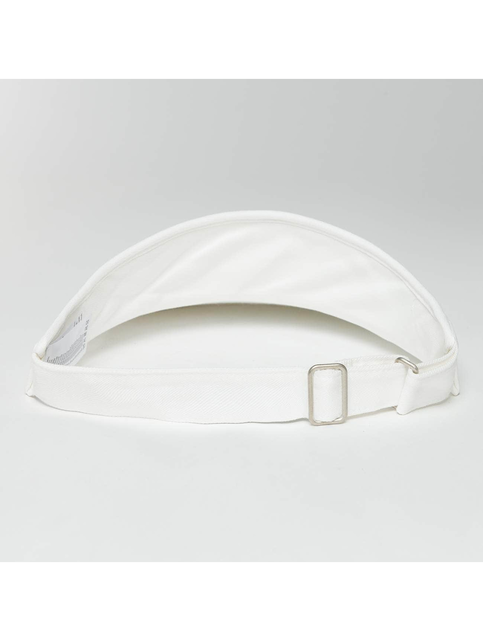 Flexfit Snapback Caps Flat Round Visor hvit