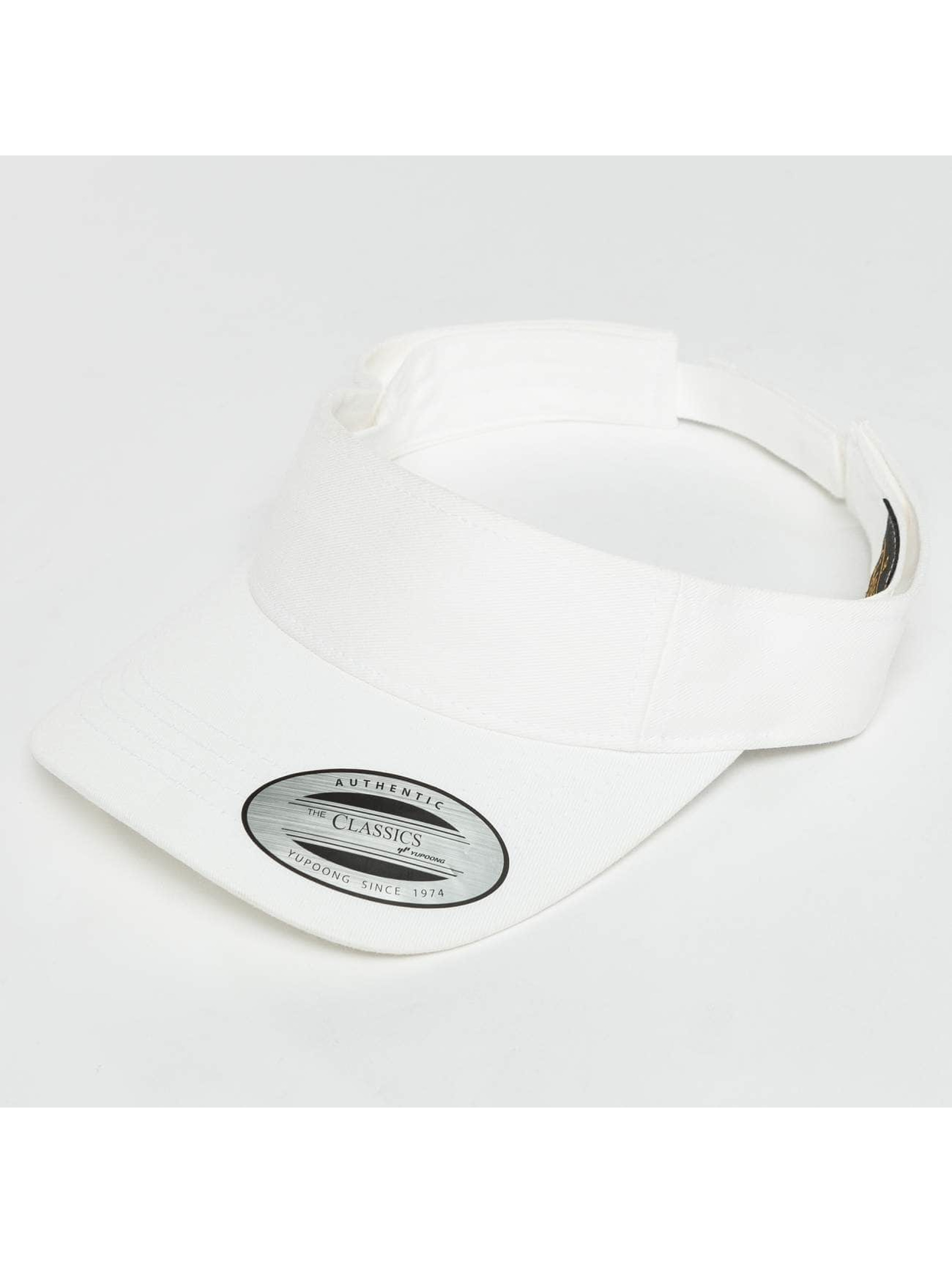 Flexfit Snapback Caps Curved Visor hvit