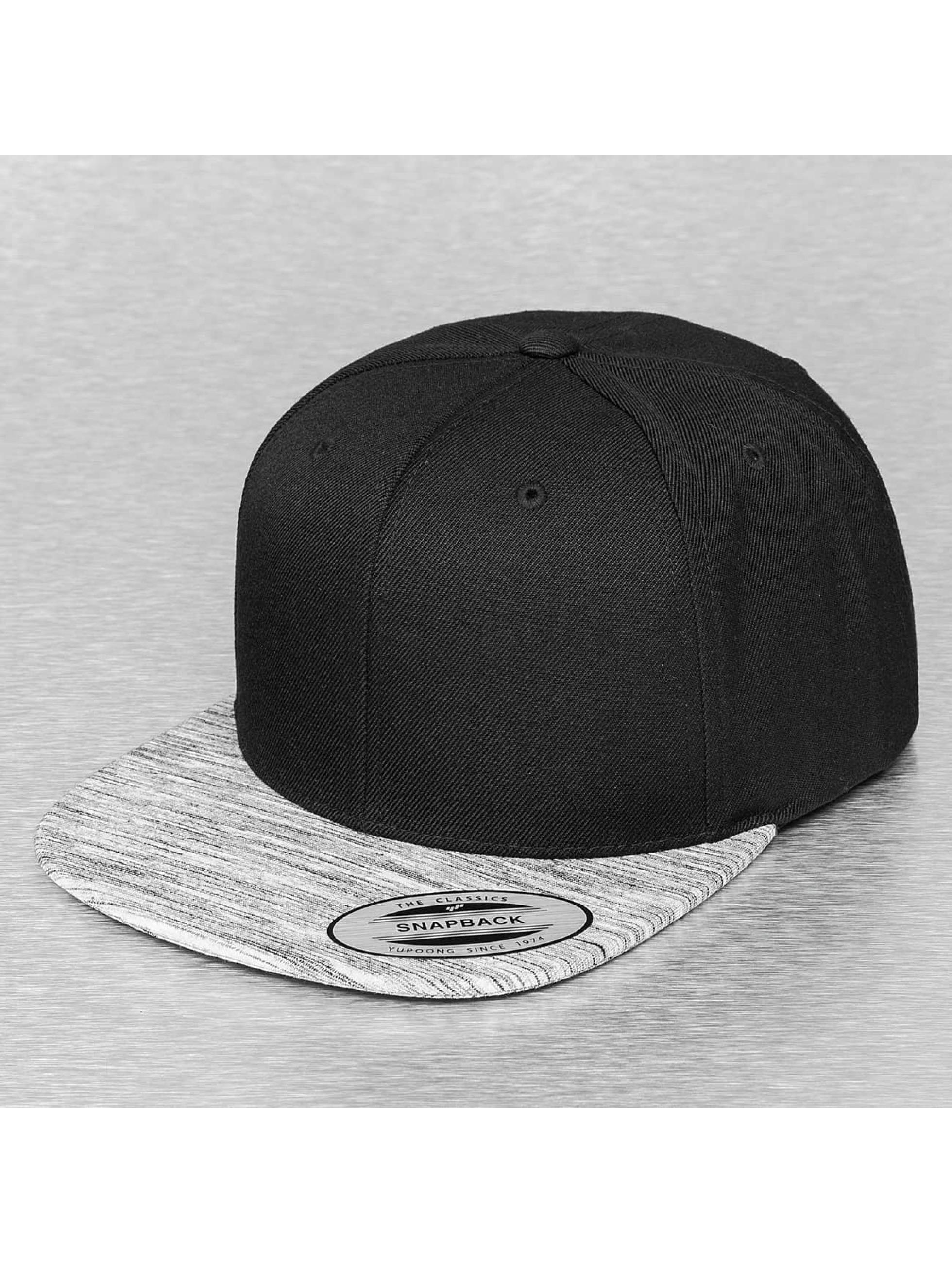 Flexfit Snapback Caps Stripes Melange Visor musta