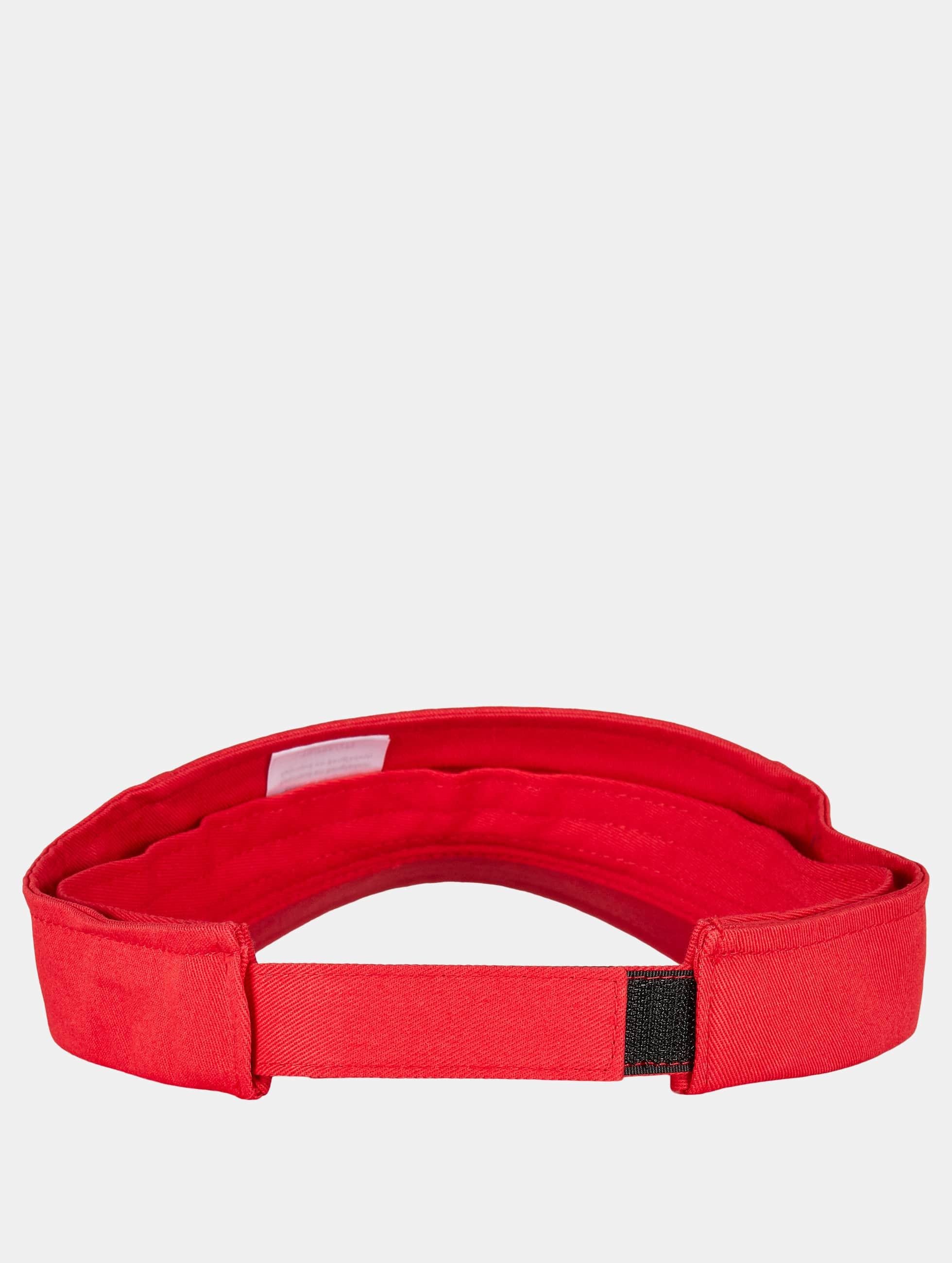 Flexfit Snapback Caps Curved Visor red