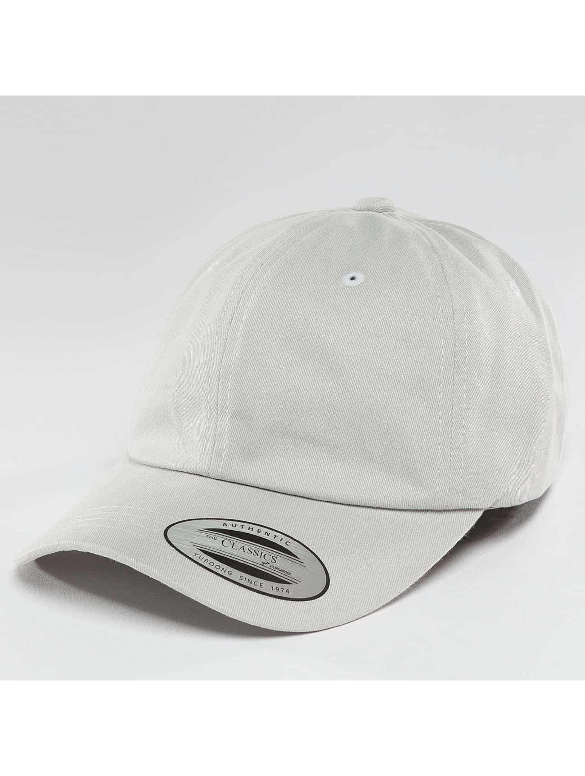 Flexfit Snapback Caps Peached Cotton Twill Dad szary