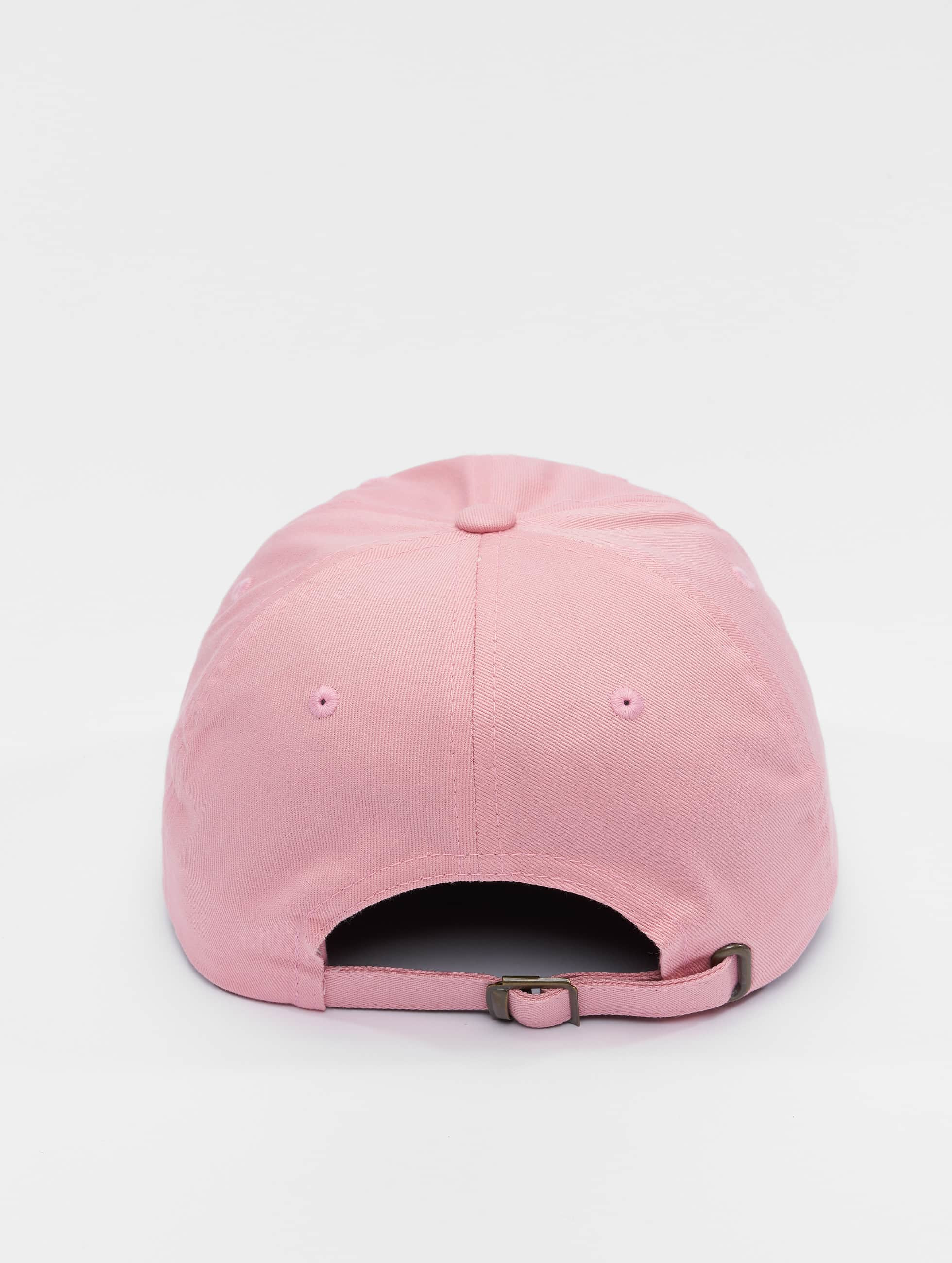Flexfit Snapback Caps Low Profile Cotton Twill vaaleanpunainen