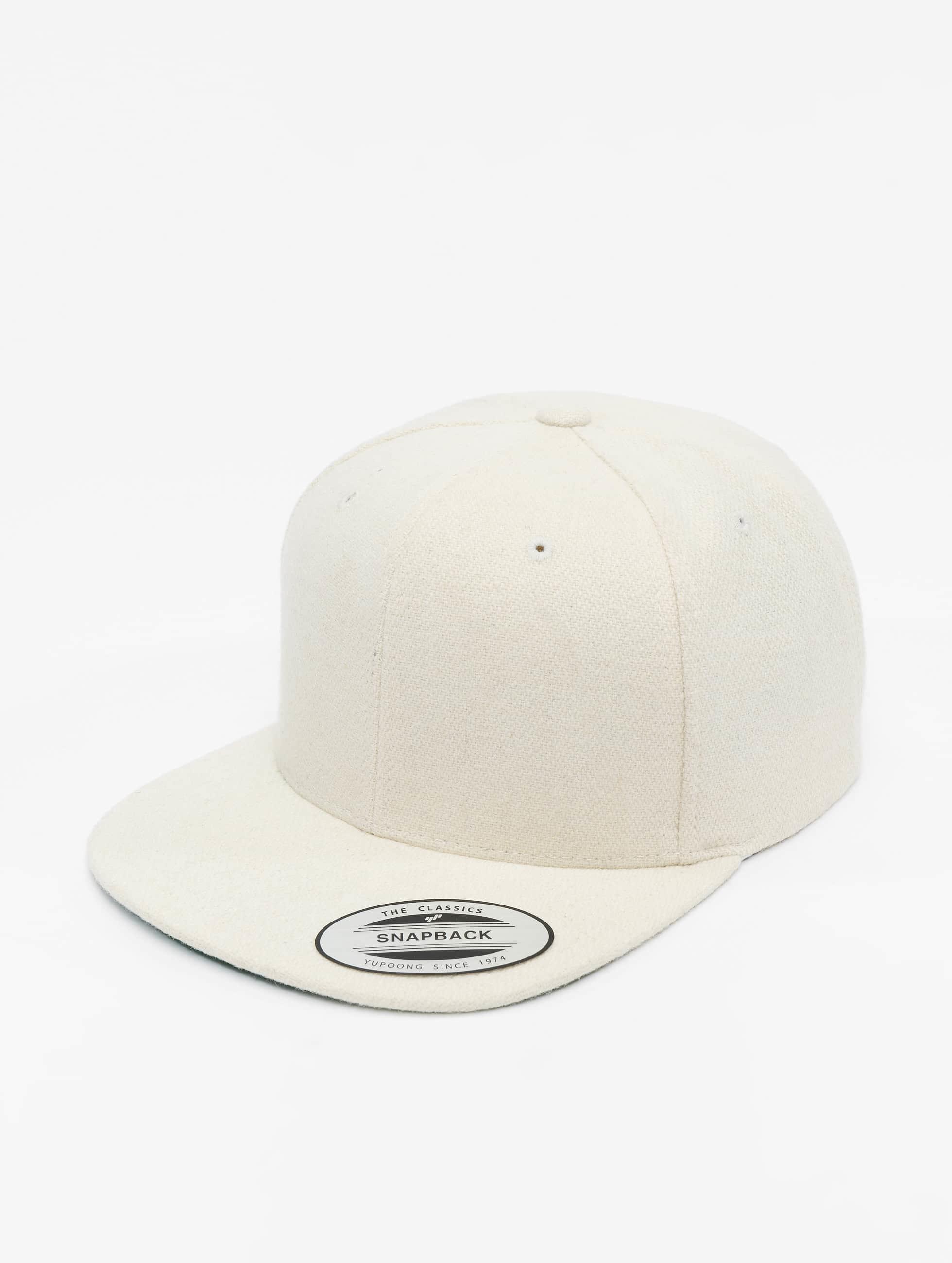 Flexfit Snapback Caps Melton Wool valkoinen