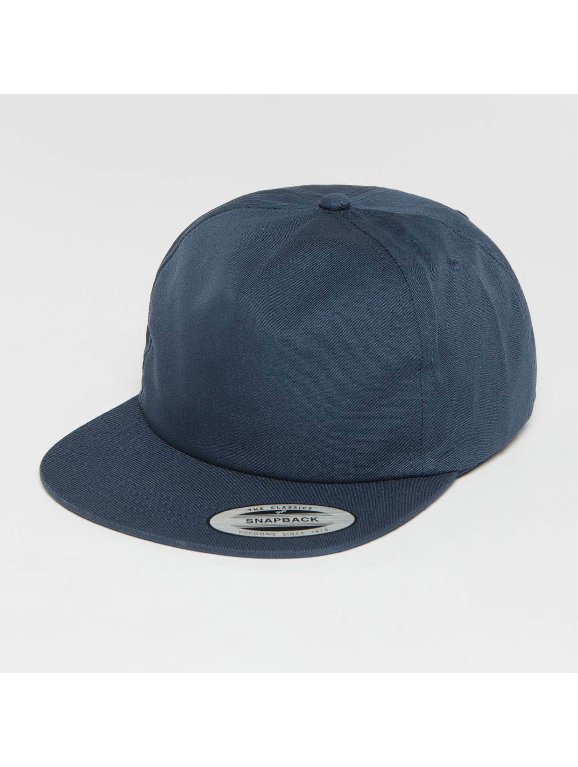 Flexfit Snapbackkeps Unstructured blå