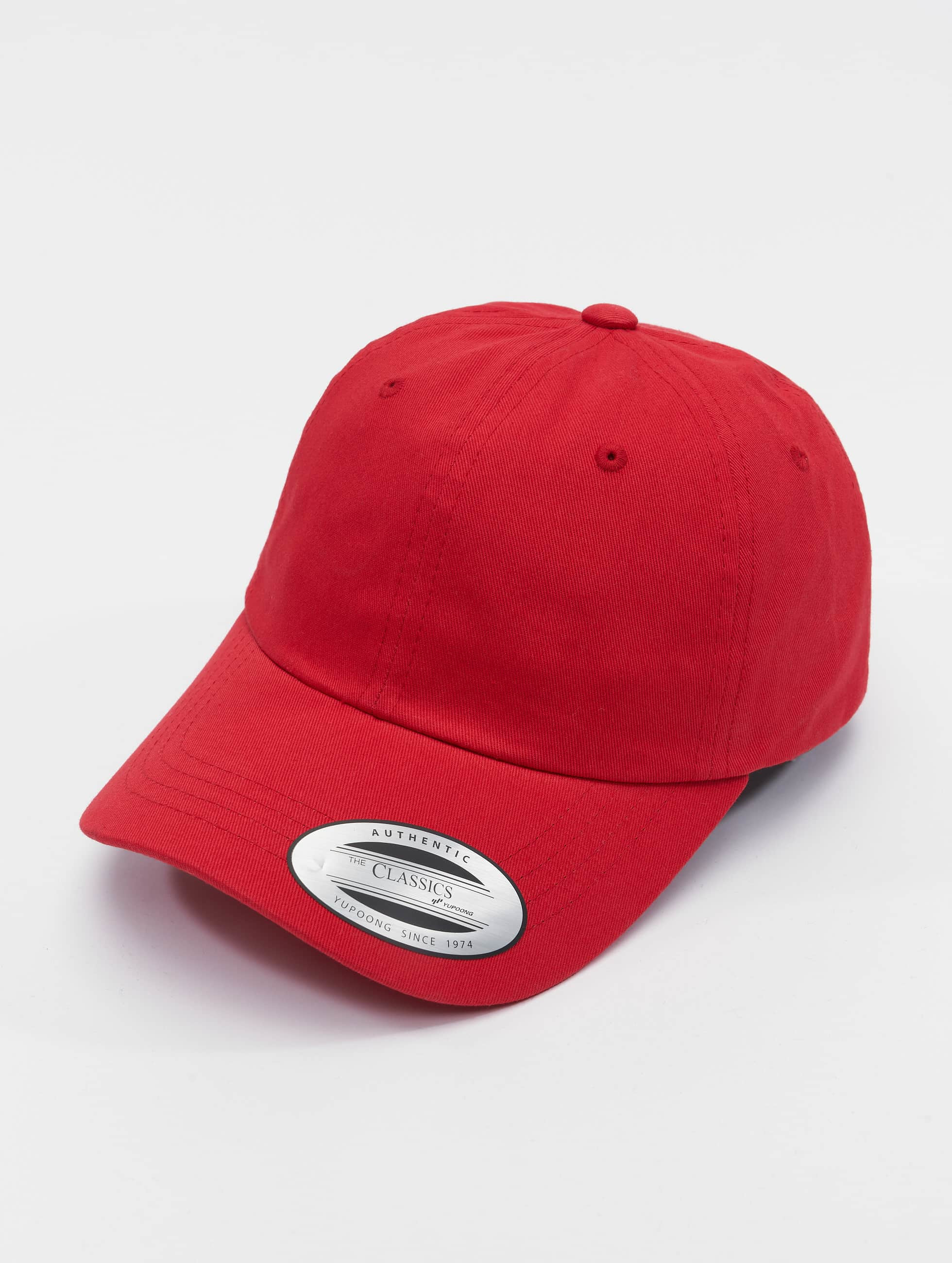 Flexfit Snapbackkeps Low Profile Cotton Twill röd