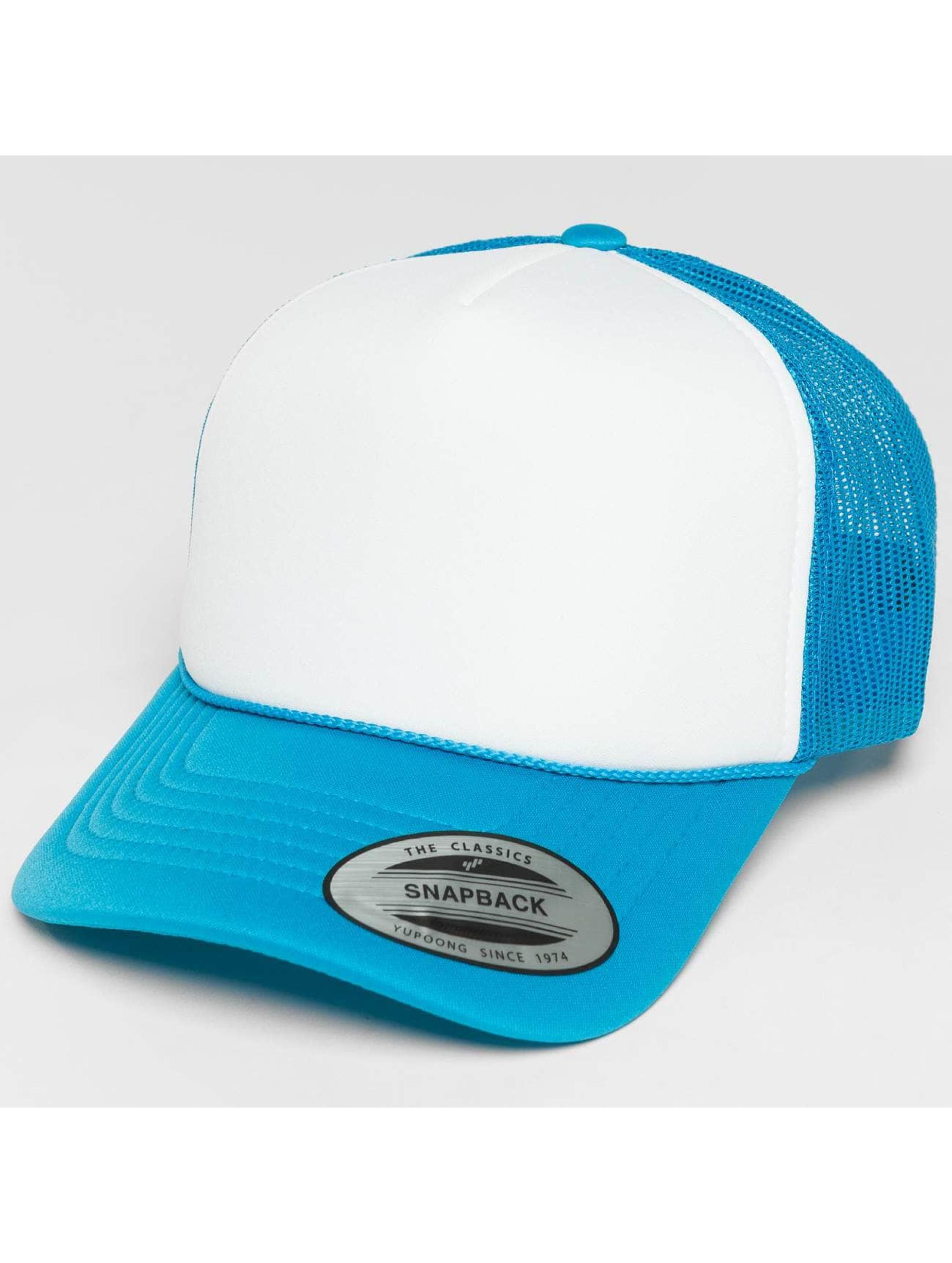 Flexfit Trucker Cap Curved Visor Foam blu