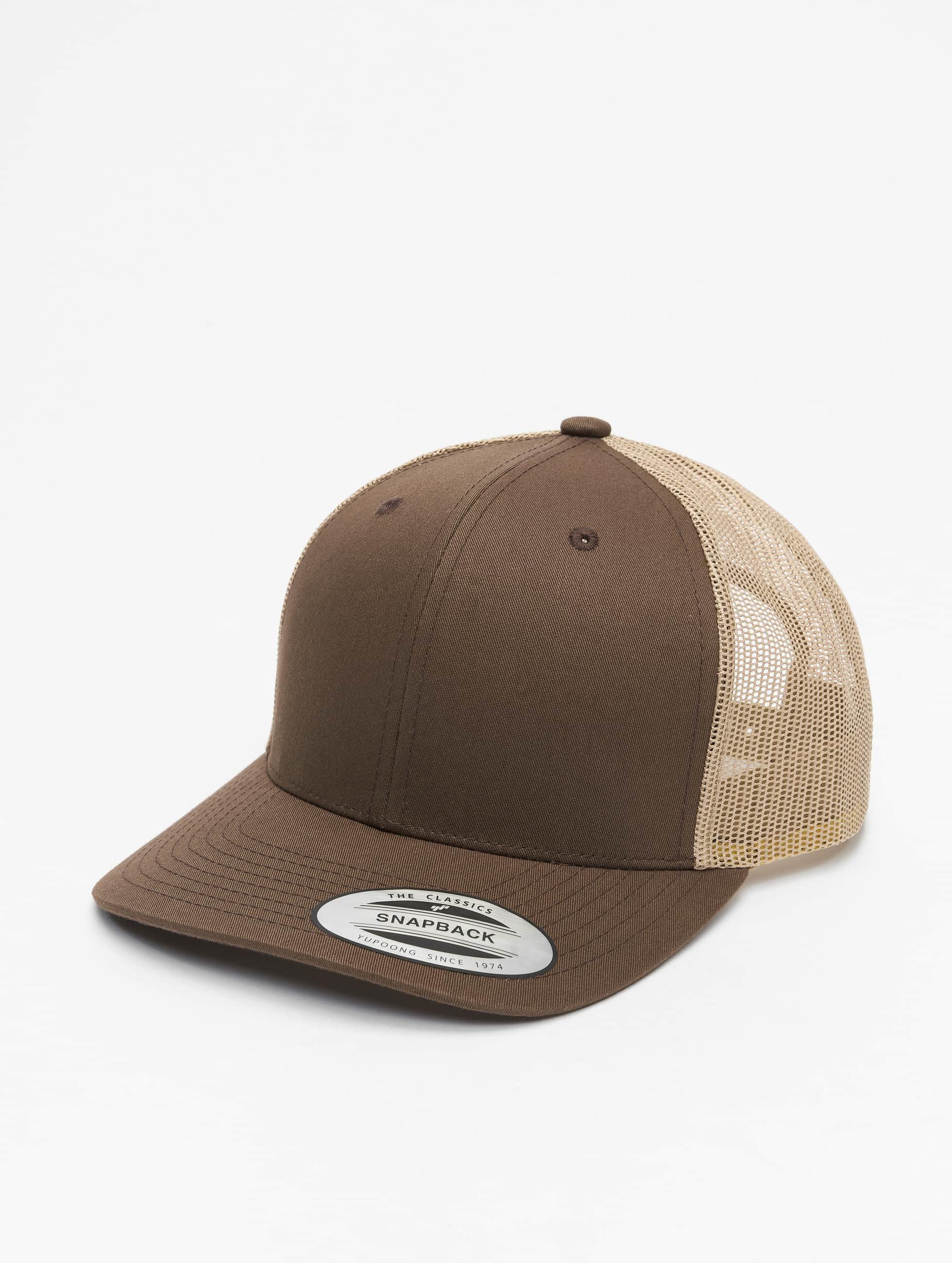 Flexfit trucker cap Retro bruin