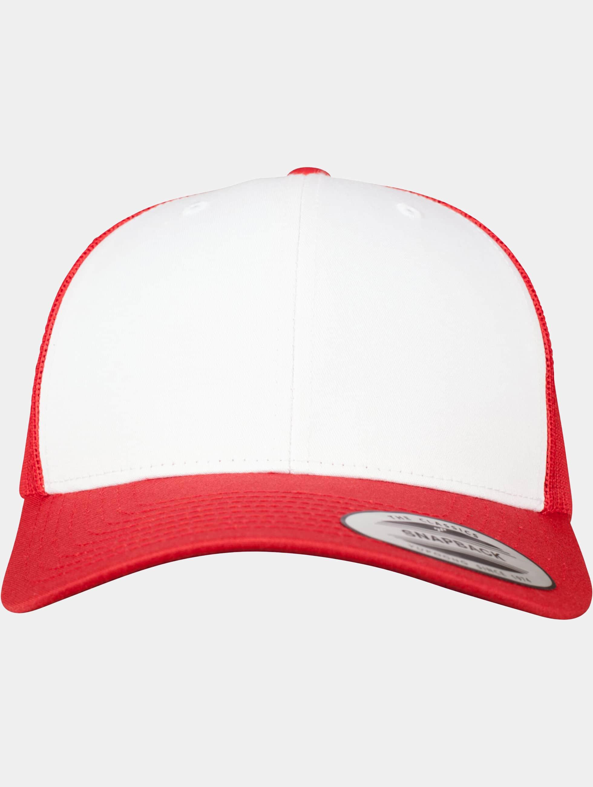 Flexfit Trucker Cap Retro Colored Front red