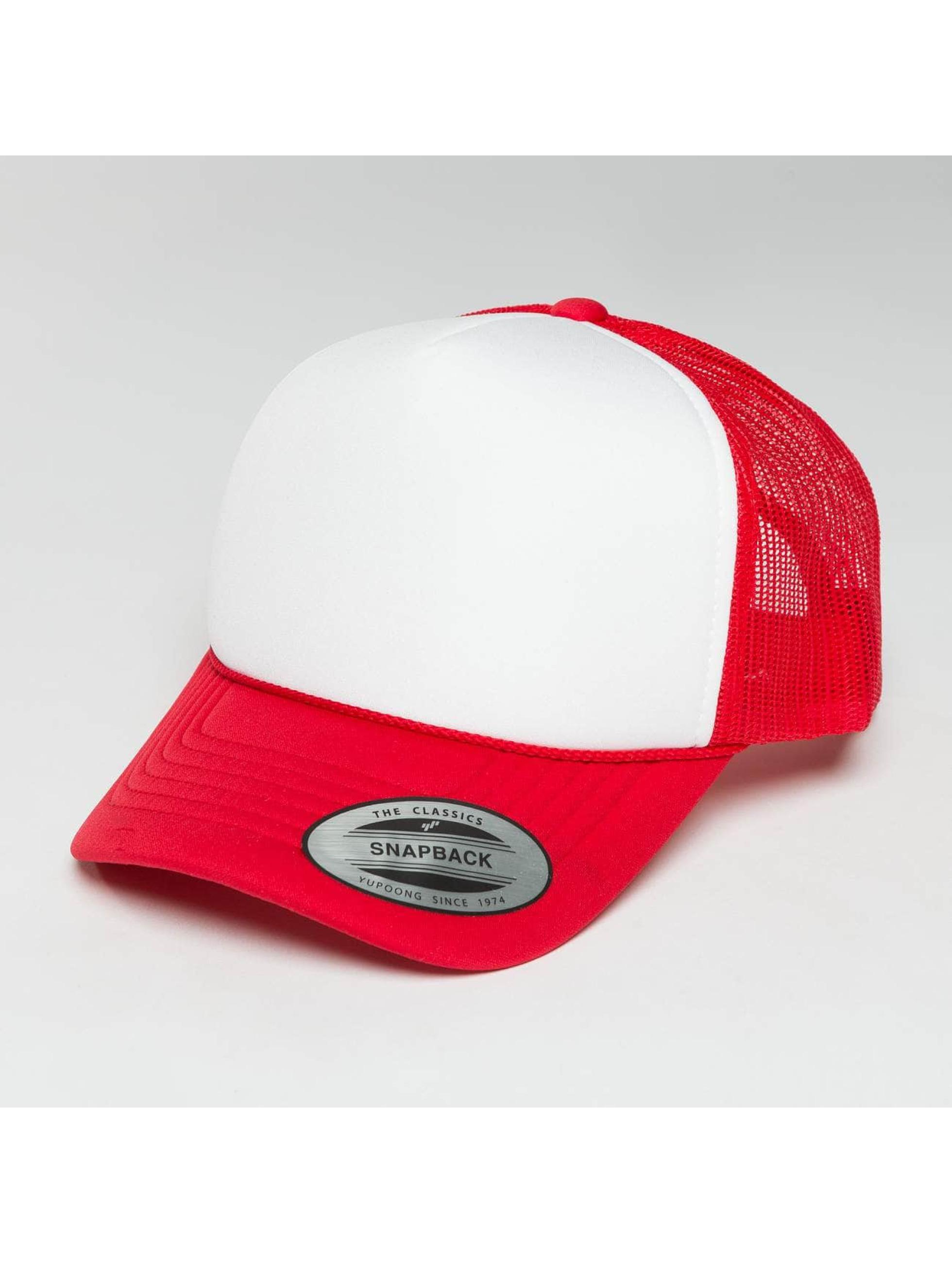 Flexfit Trucker Cap Curved Visor Foam rosso