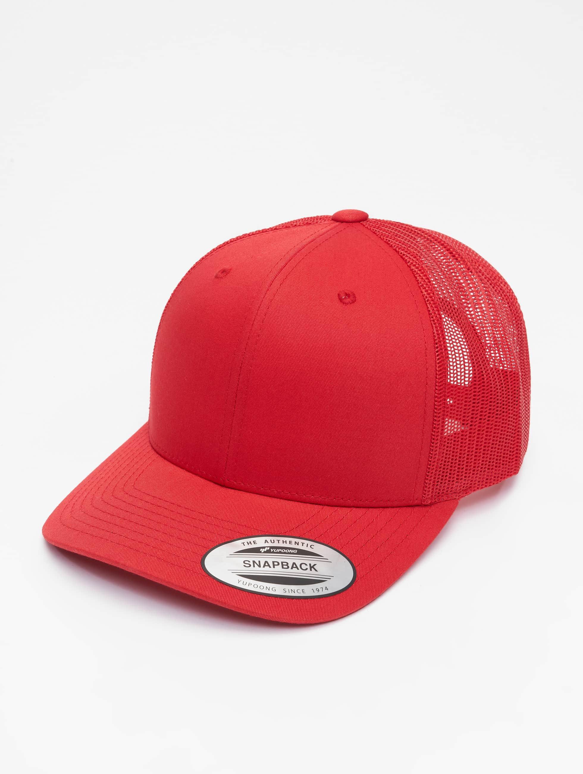 Flexfit Trucker Cap Retro rosso