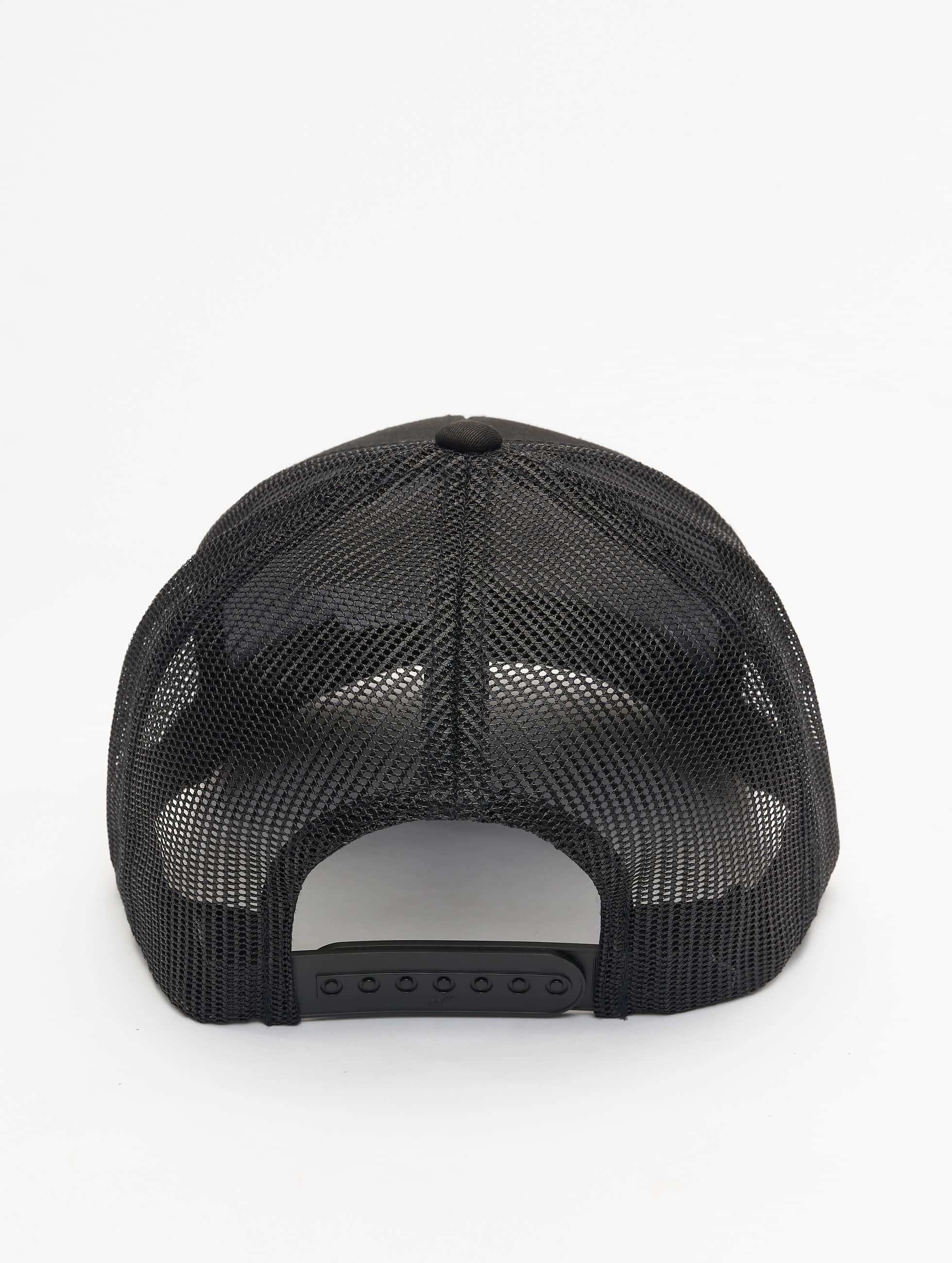 Flexfit trucker cap Retro zwart