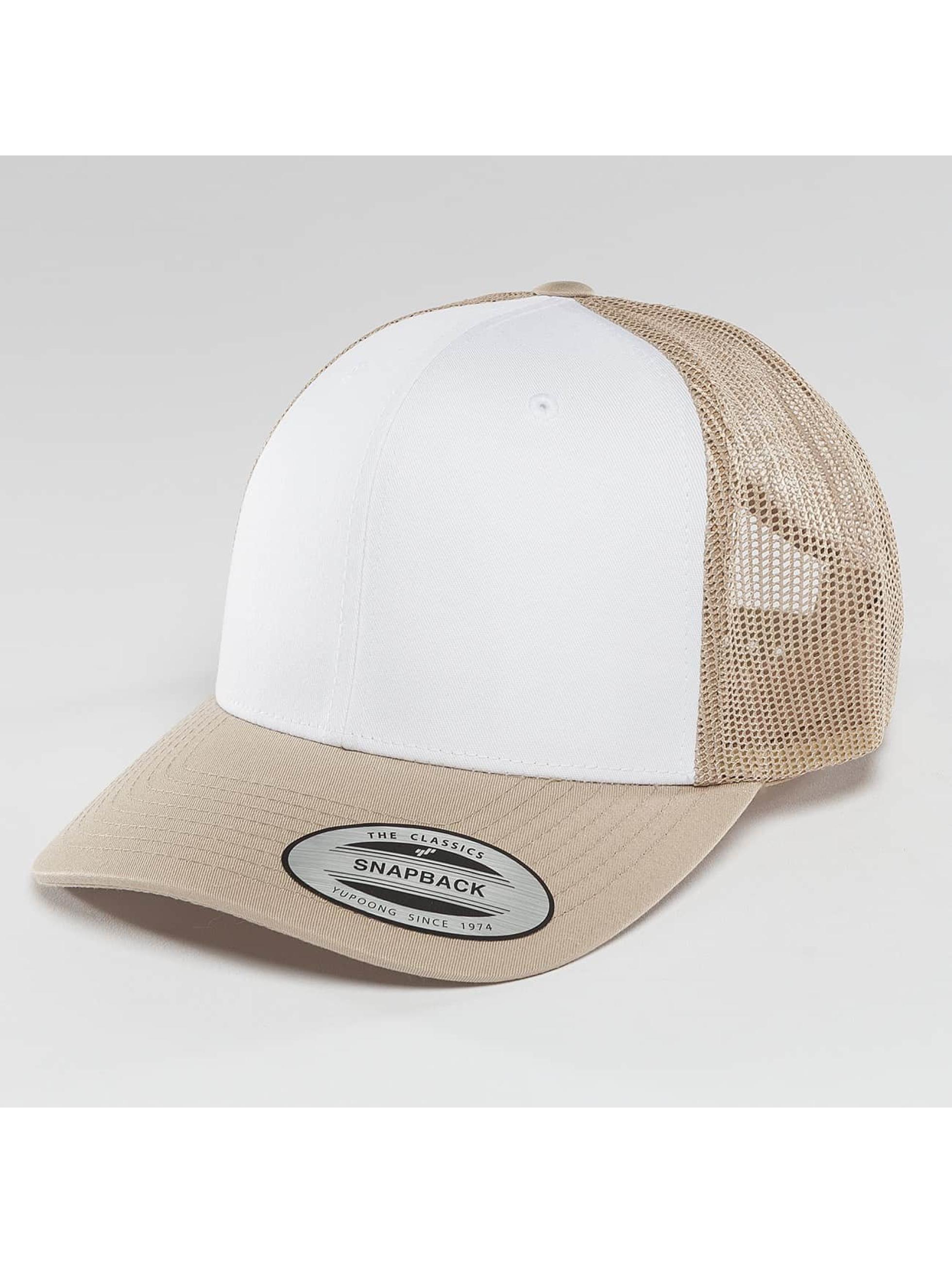 Flexfit Trucker Caps Retro Colored Front beige