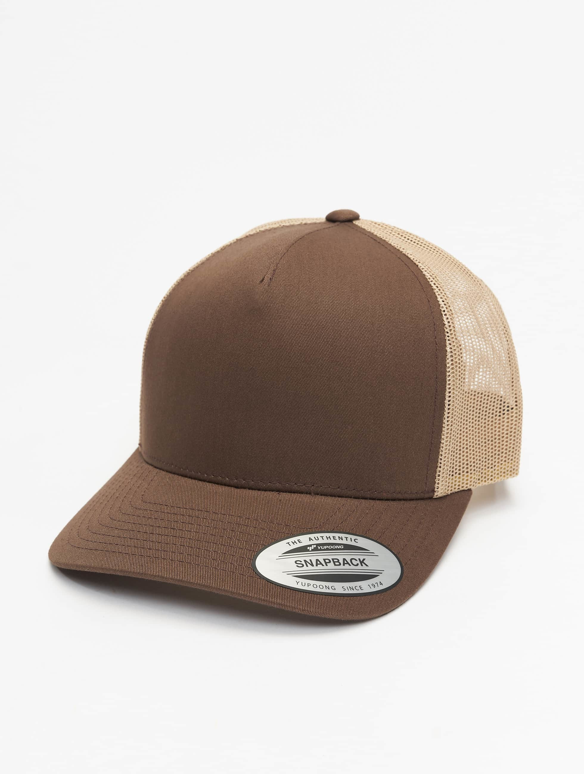 Flexfit Trucker Caps 6506T brazowy