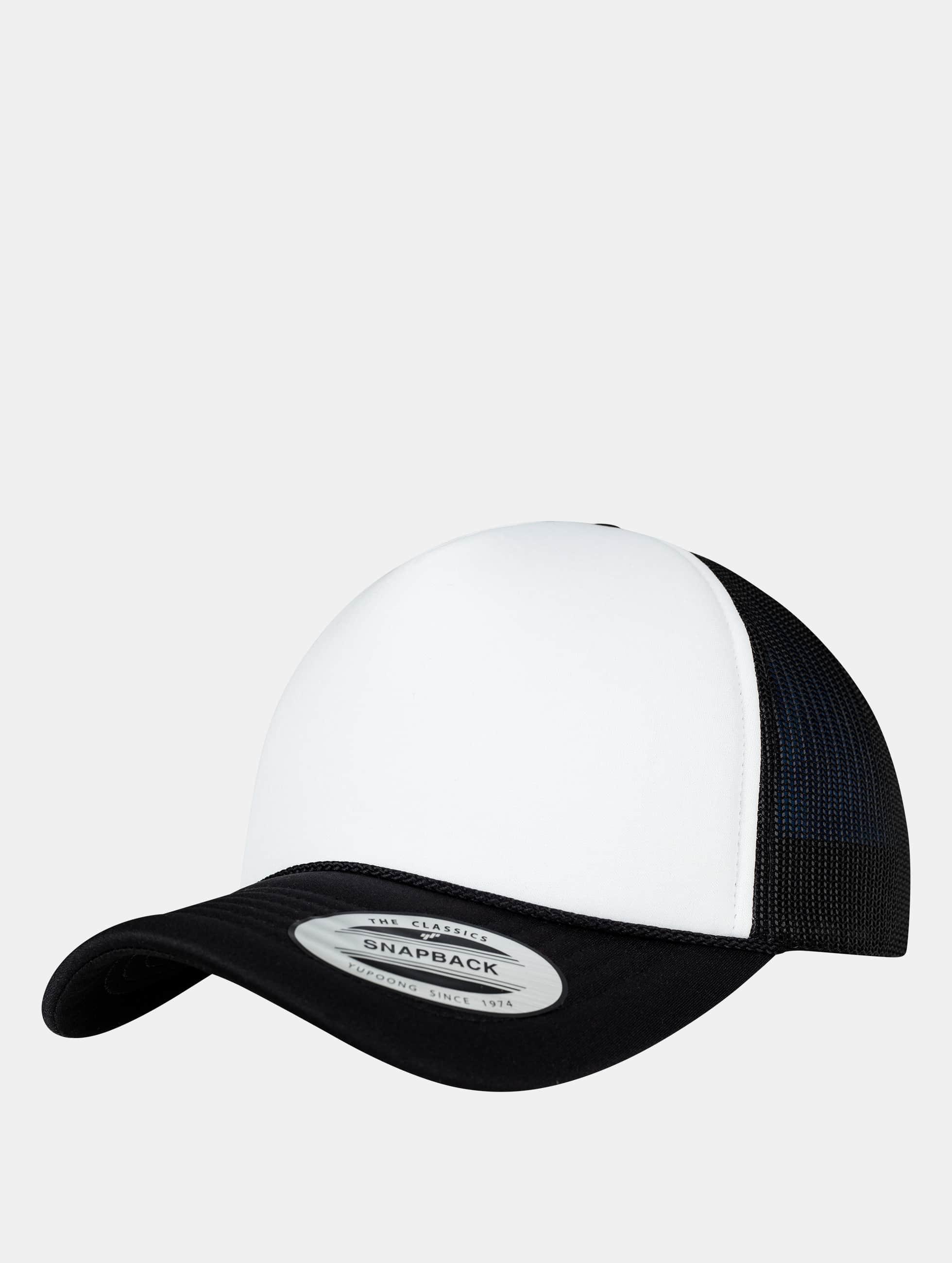 Flexfit Trucker Caps Curved Visor Foam czarny