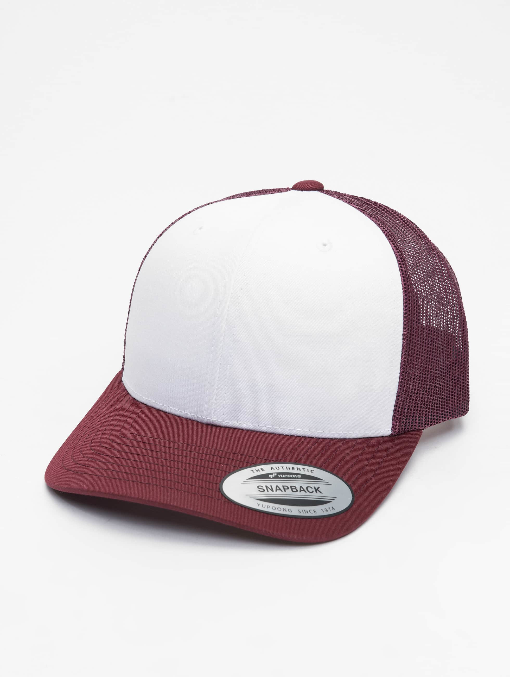 Flexfit Trucker Caps Retro Colored Front czerwony