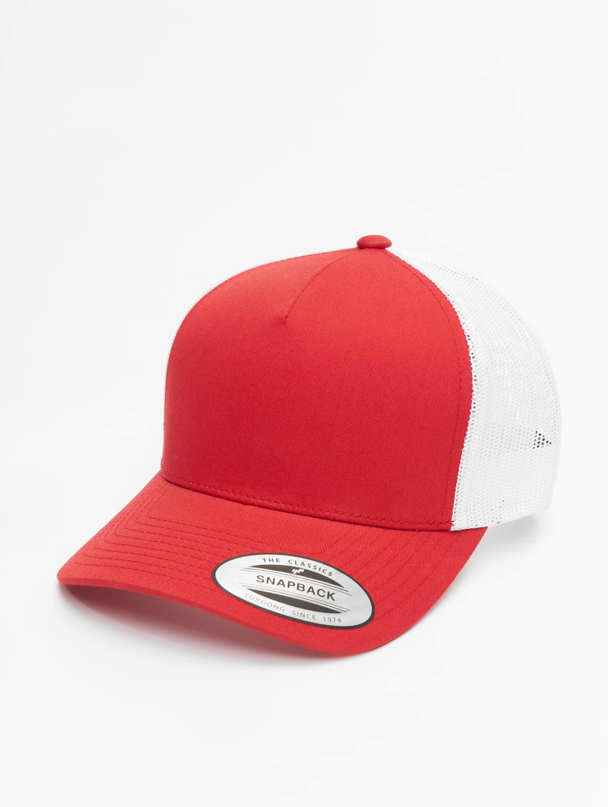 Flexfit Trucker Caps 2-Tone Retro czerwony
