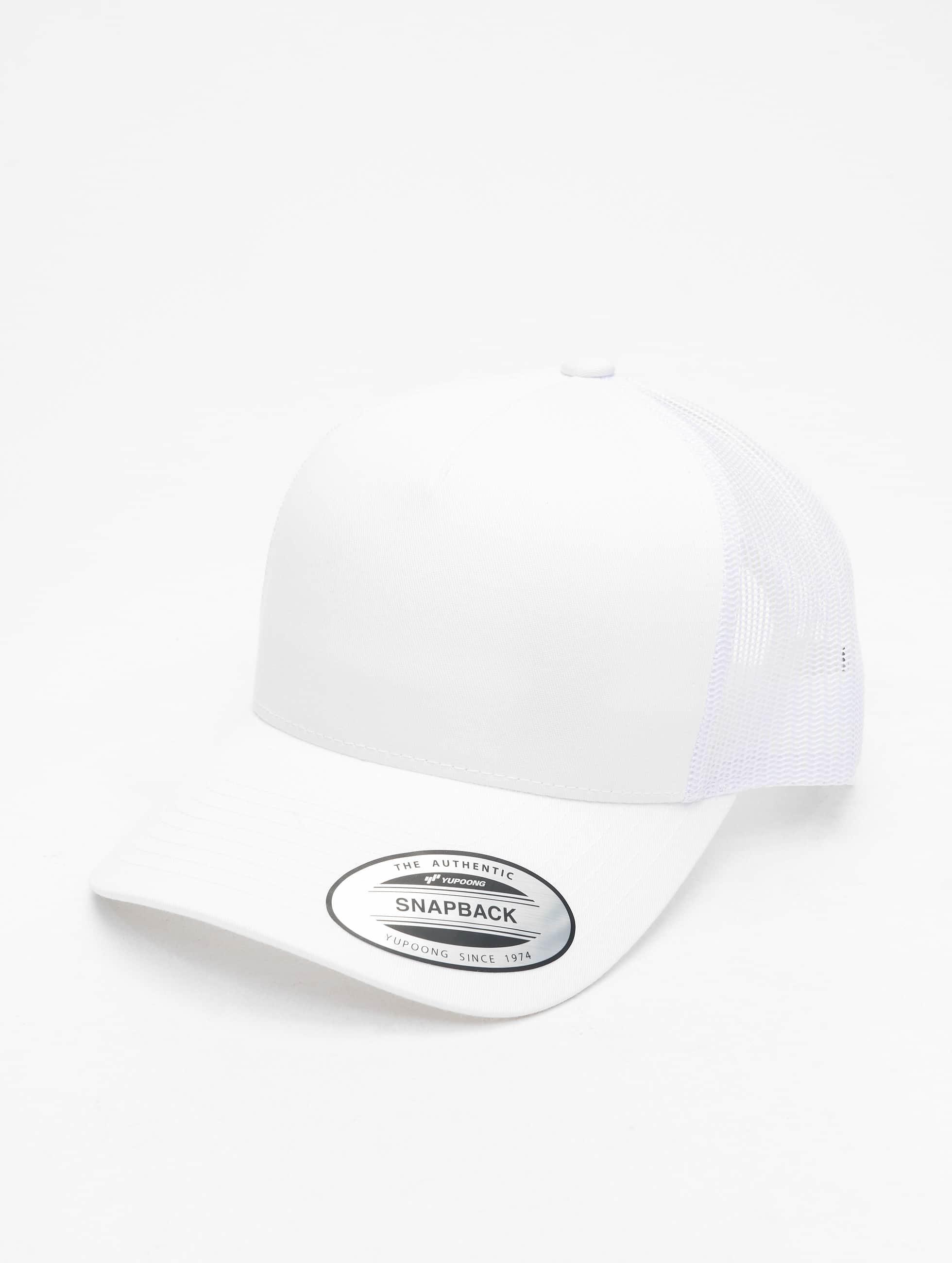 Flexfit Trucker Caps Retro hvid