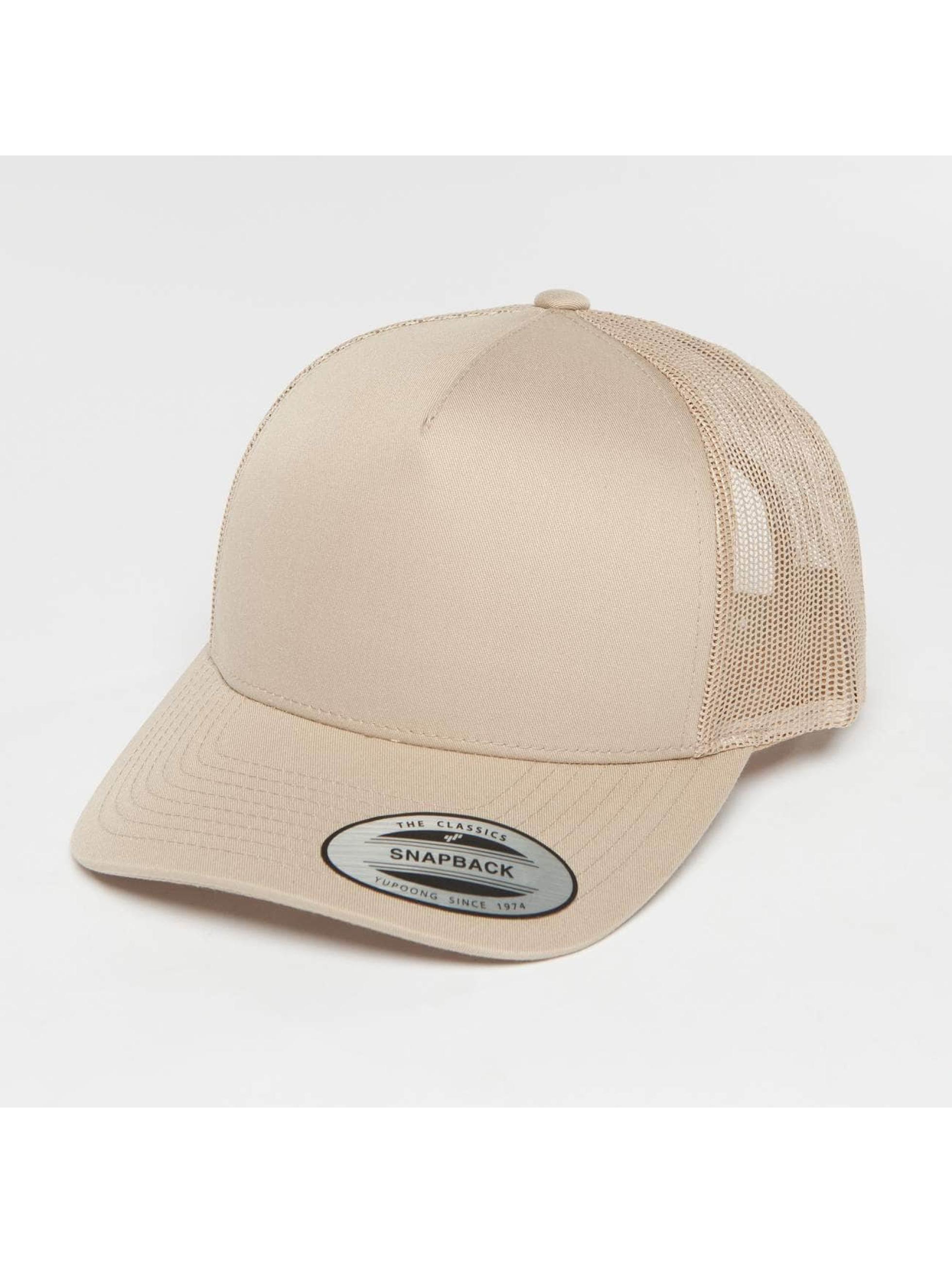 Flexfit Trucker Caps Retro khaki