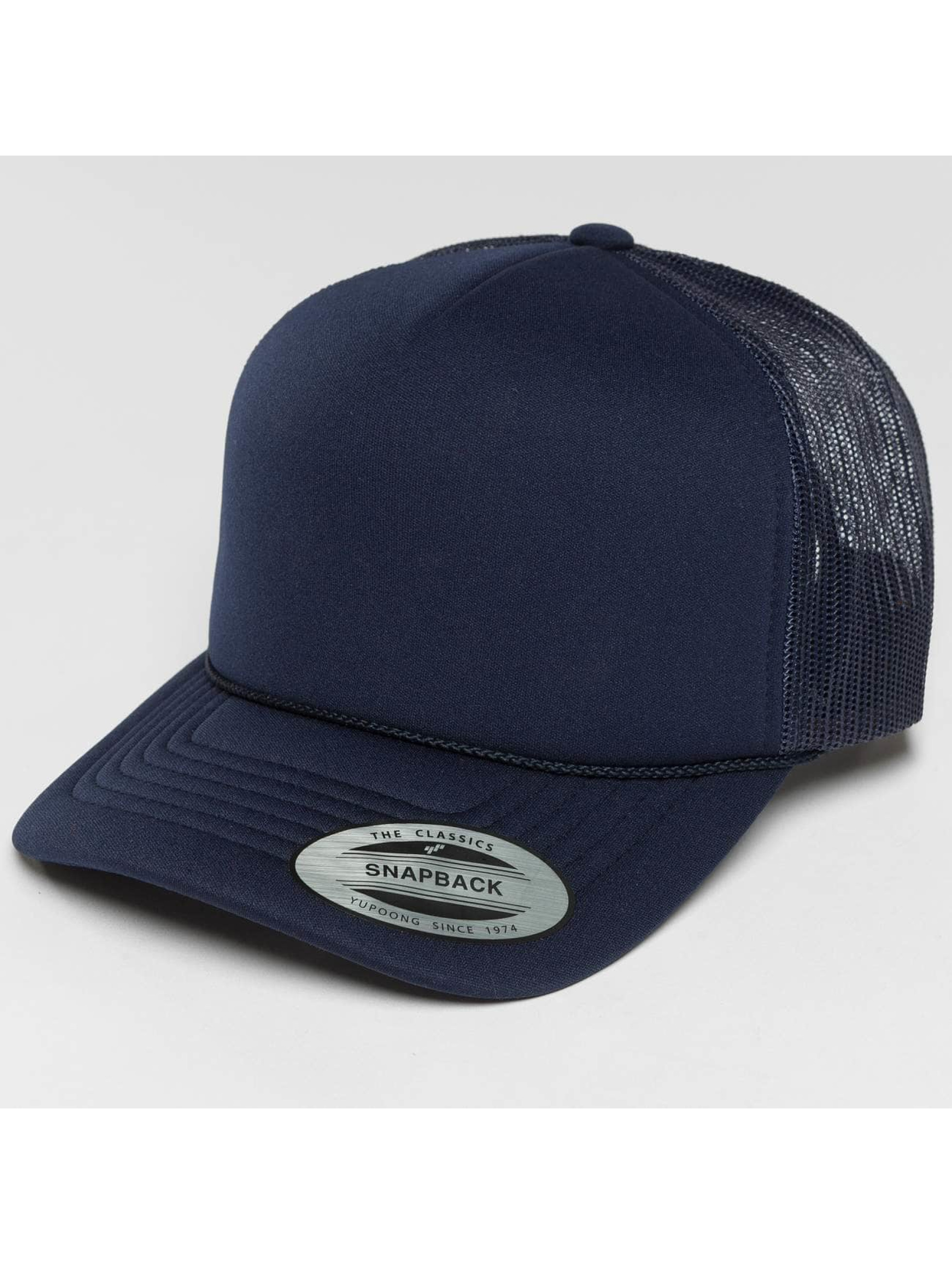 Flexfit Trucker Caps Curved Visor Foam niebieski