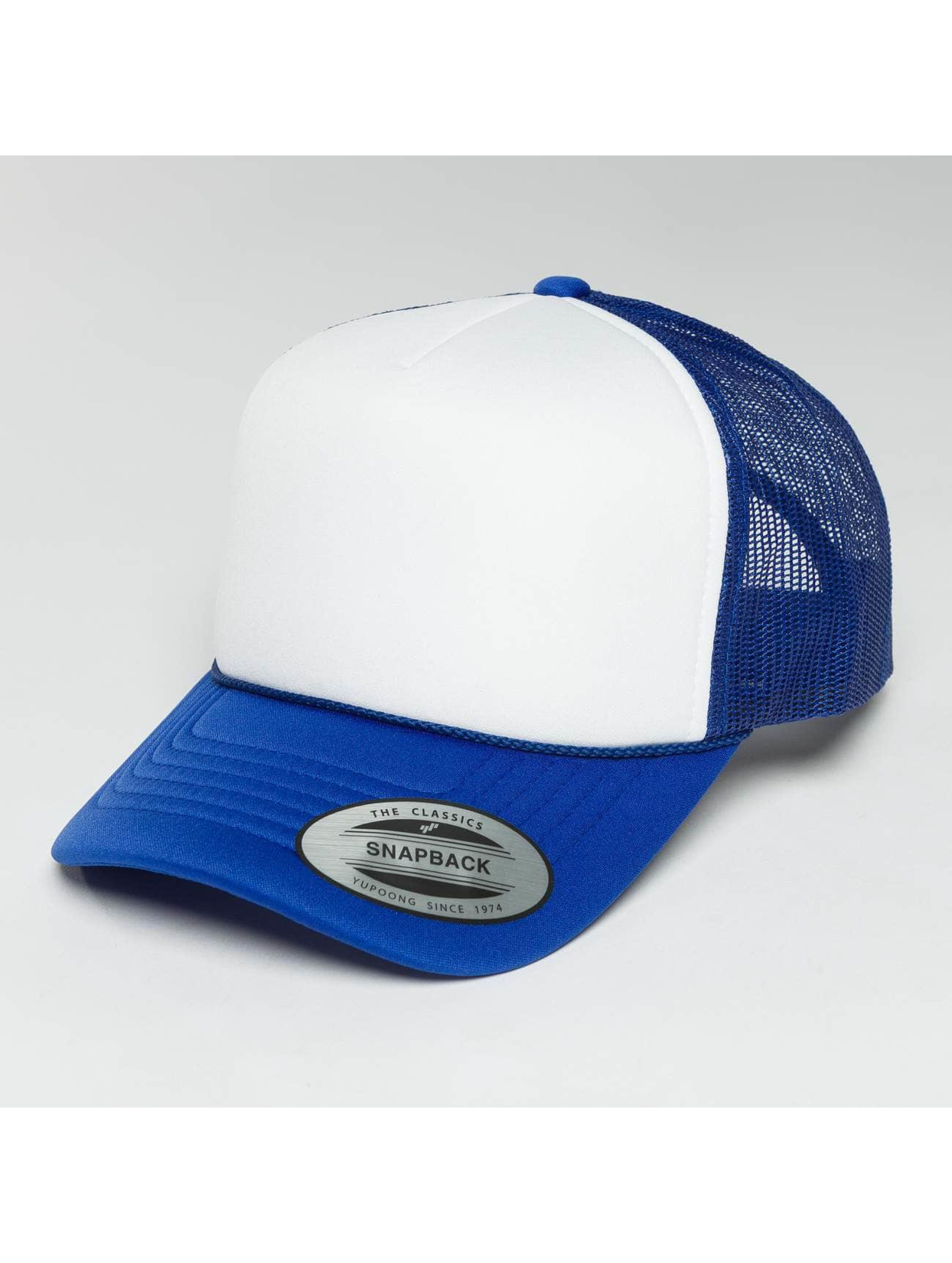 Flexfit Truckerkeps Curved Visor Foam blå