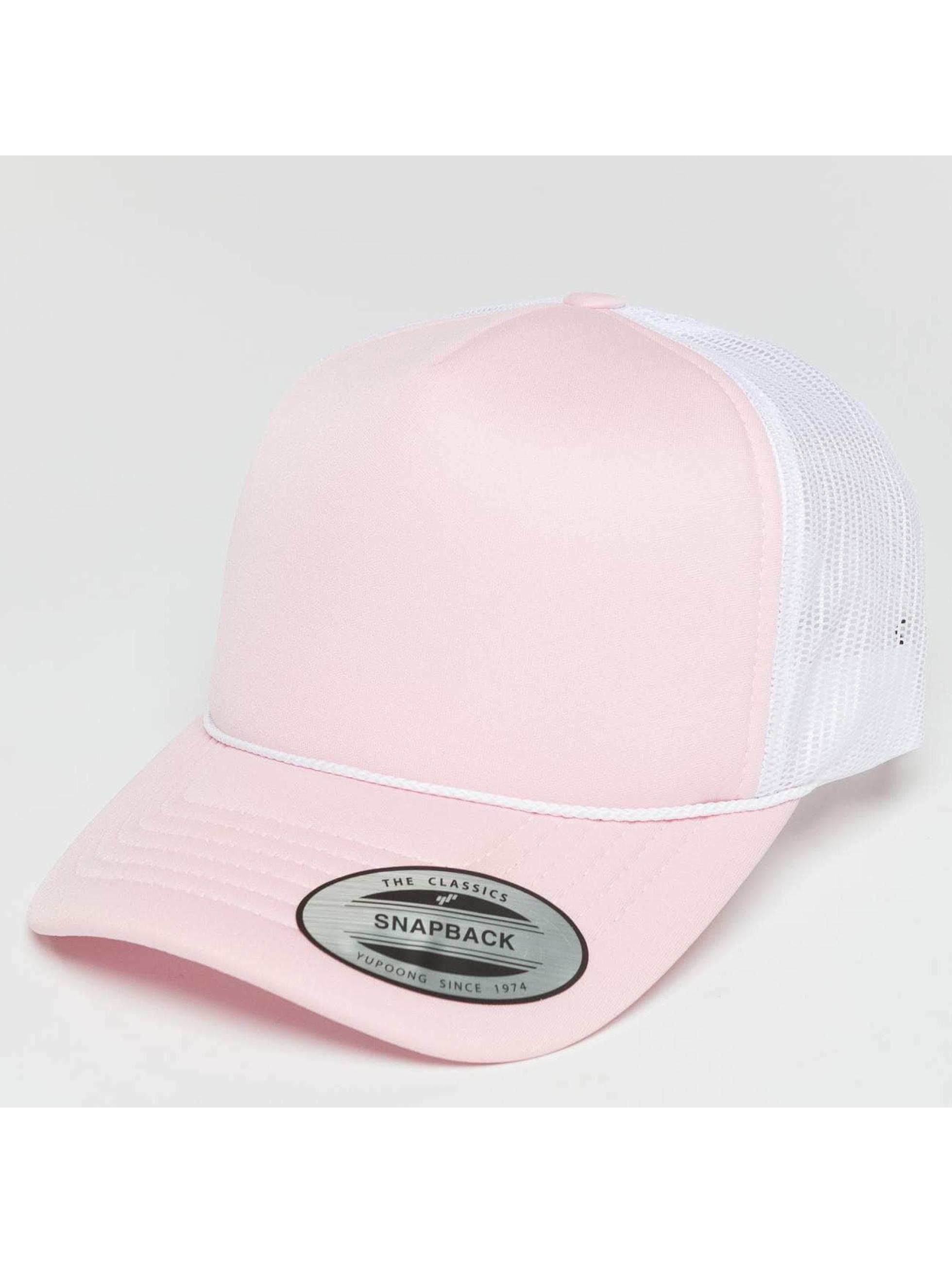 Flexfit Truckerkeps Curved Visor Foam rosa