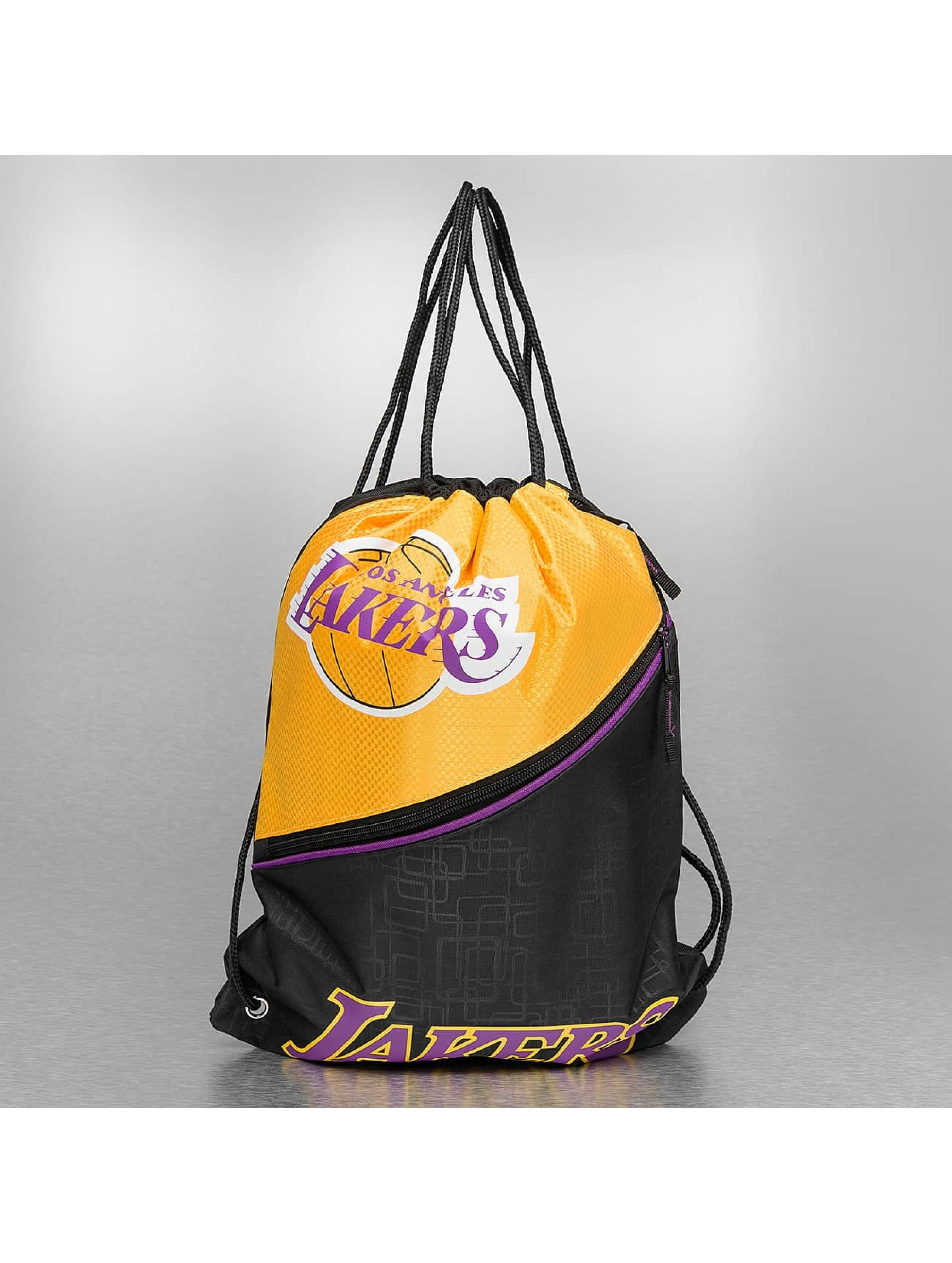 dbc2b5adaf69 Forever Collectibles Gympapåse NBA Diagonal Zip Drawstring LA Lakers svart